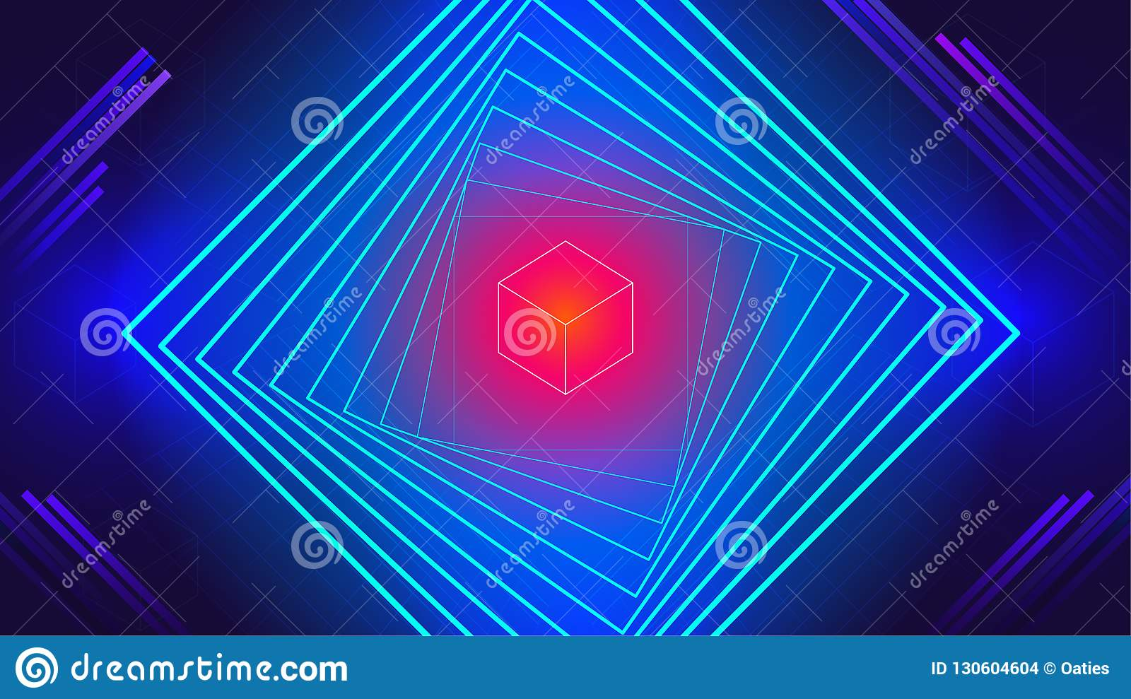 Geometric Tech Electronic Dance Music Elements Abstract