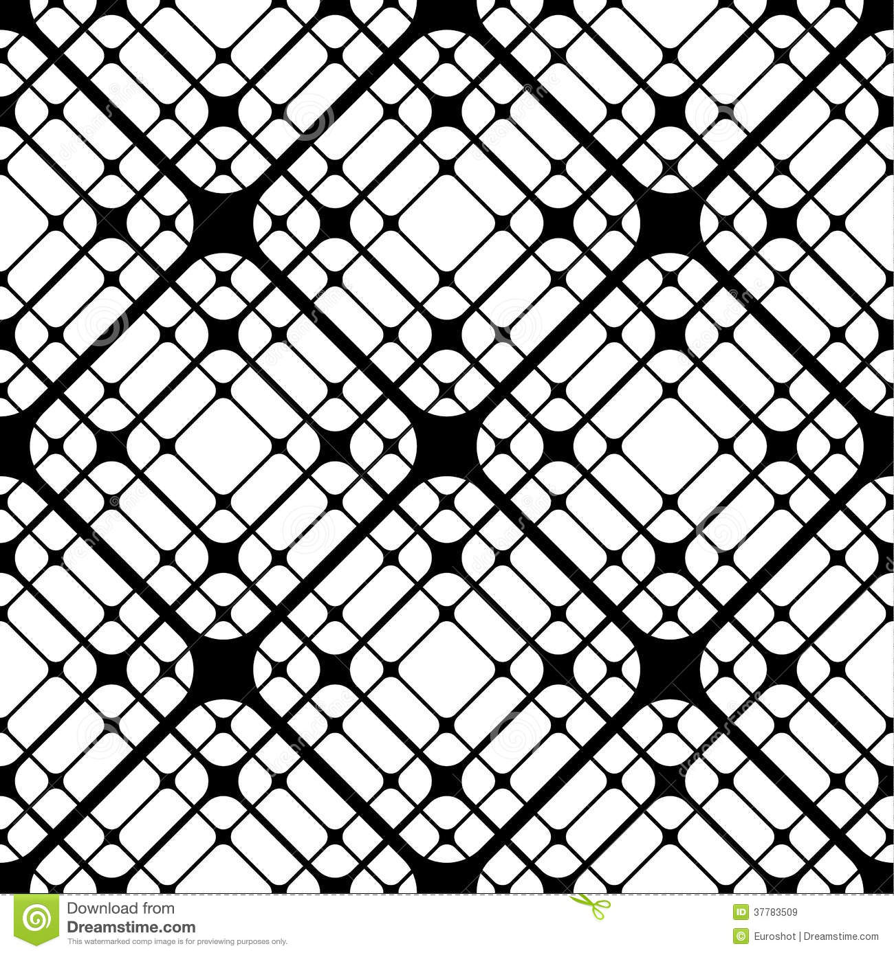 geometric tiles with rounded rhombuses vector seamless