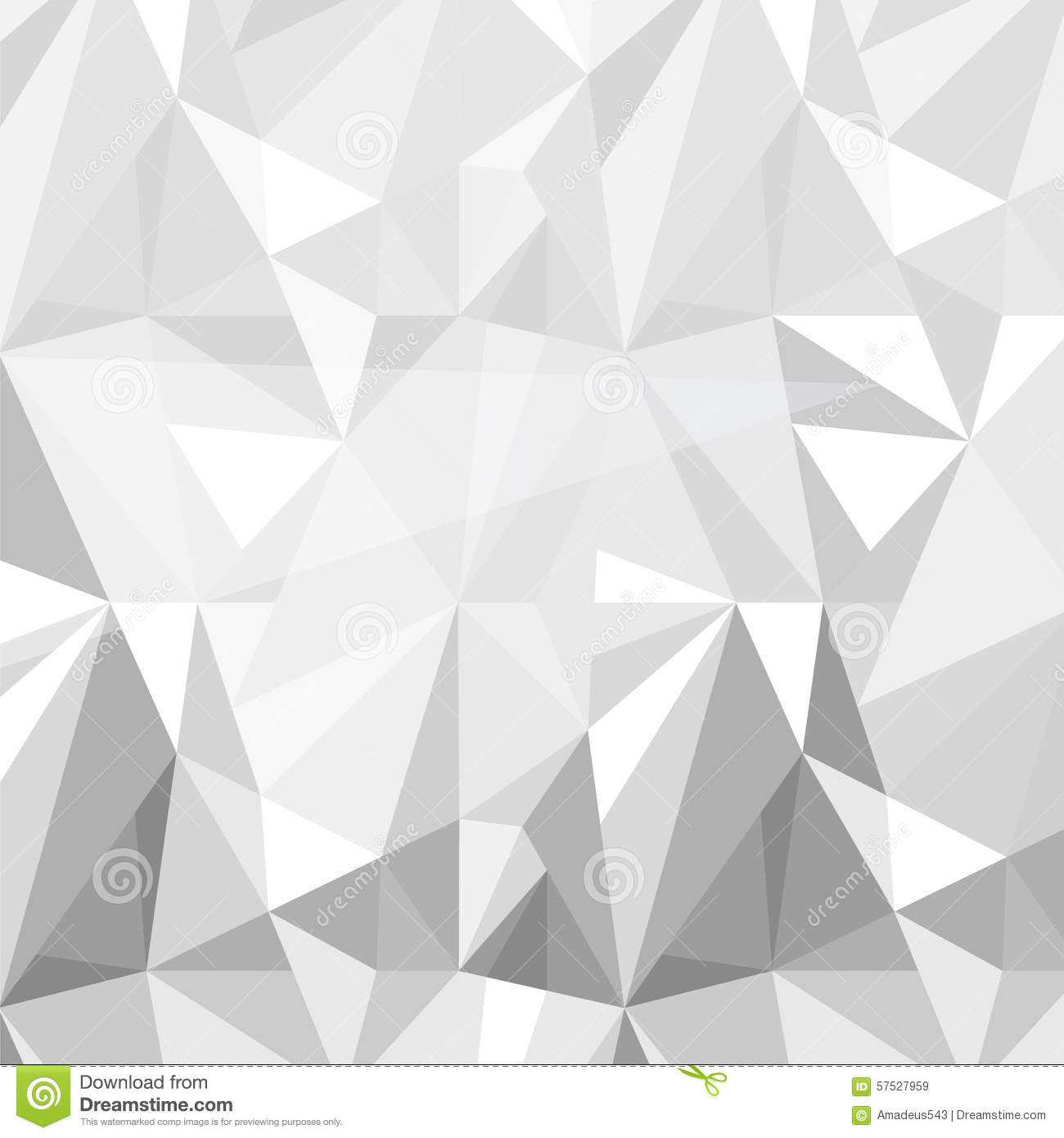 Geometric Triangle Pattern Background Grey White Vector Stock Vector