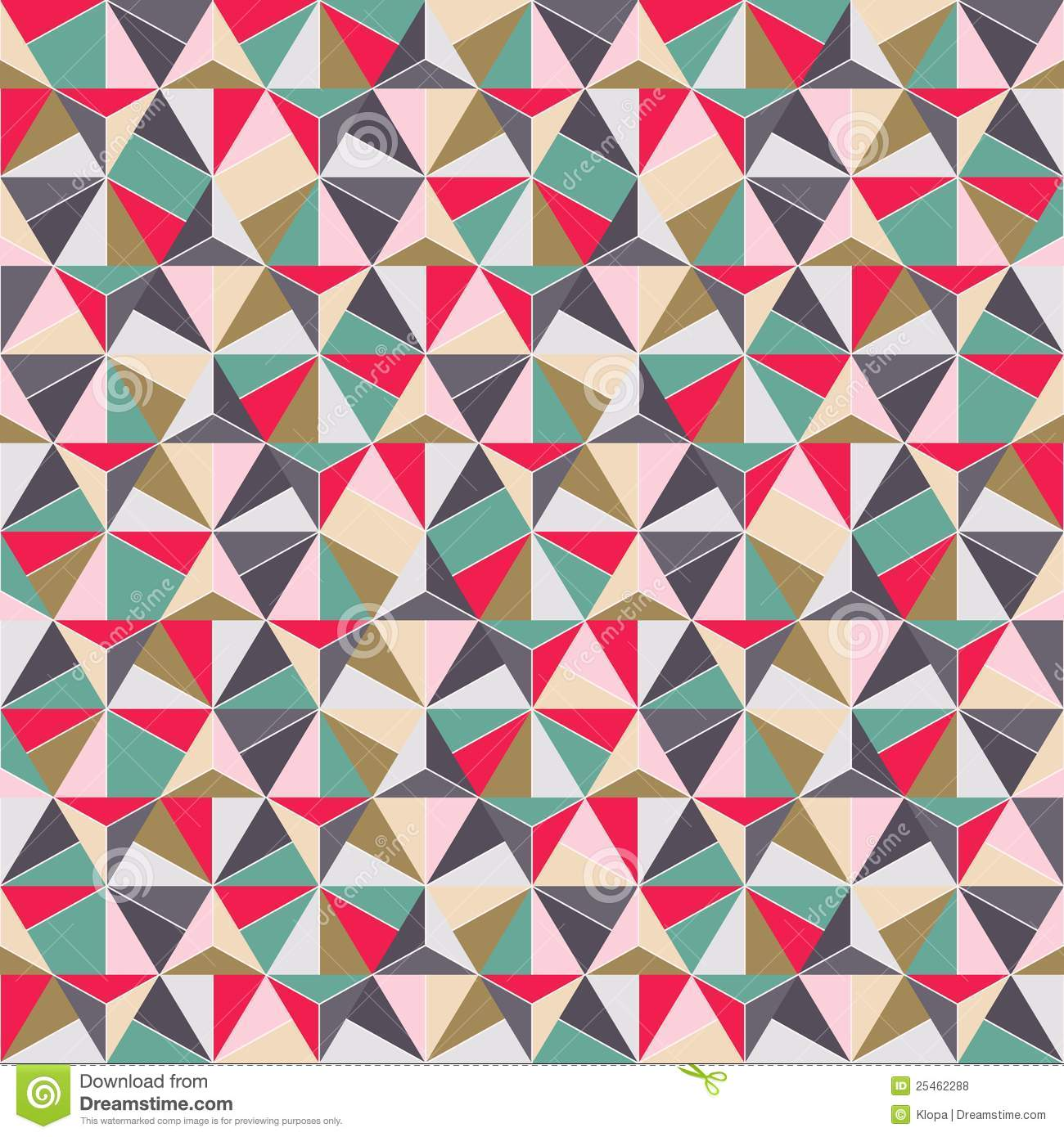 Geometric Triangle Shape Seamless Pattern Stock Vector