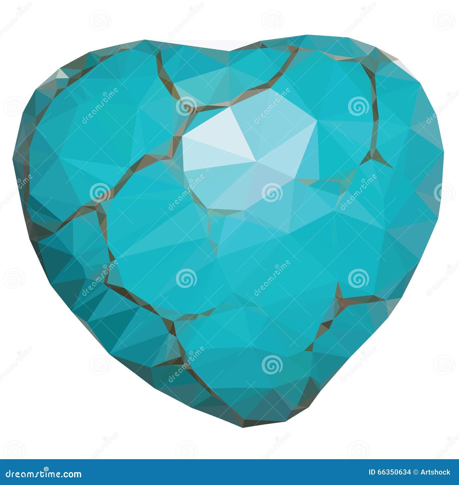 geometric turquoise heart stock vector illustration of