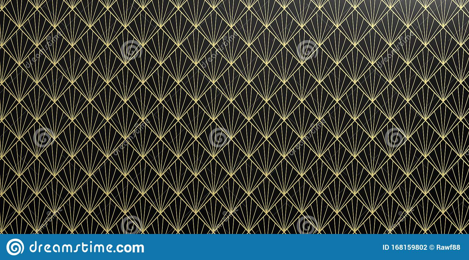 geometric wallpaper pattern black yellow color seamless background shiny texture d illustration art deco geometric seamless 168159802