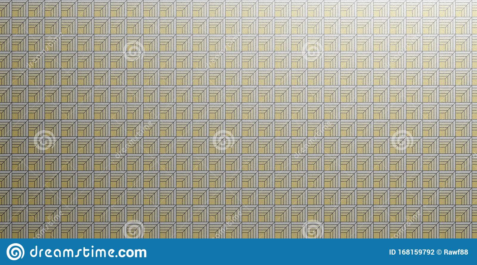 geometric wallpaper pattern silver yellow color seamless background shiny texture d illustration art deco retro vintage 168159792