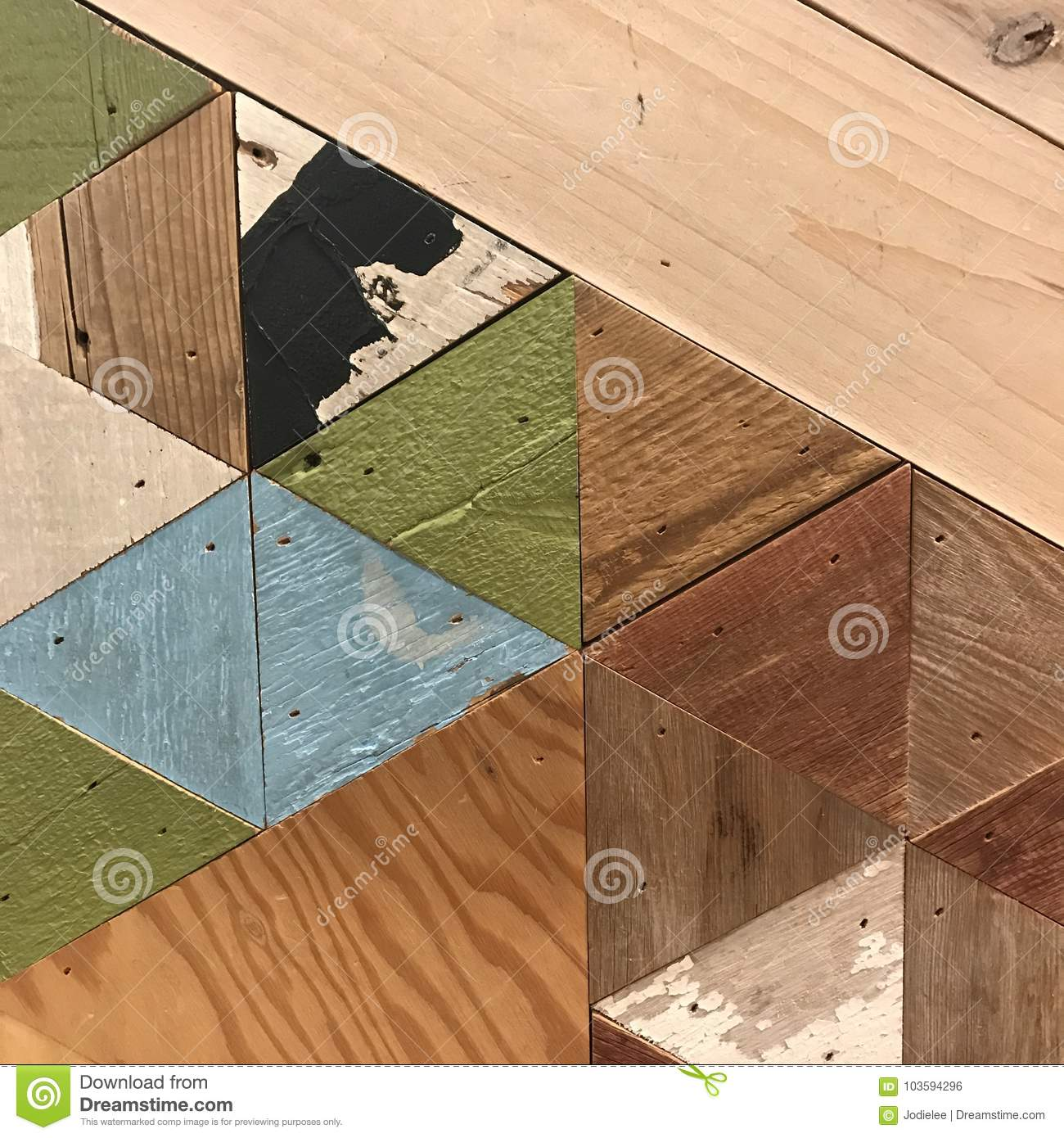 Geometric Wood Pattern