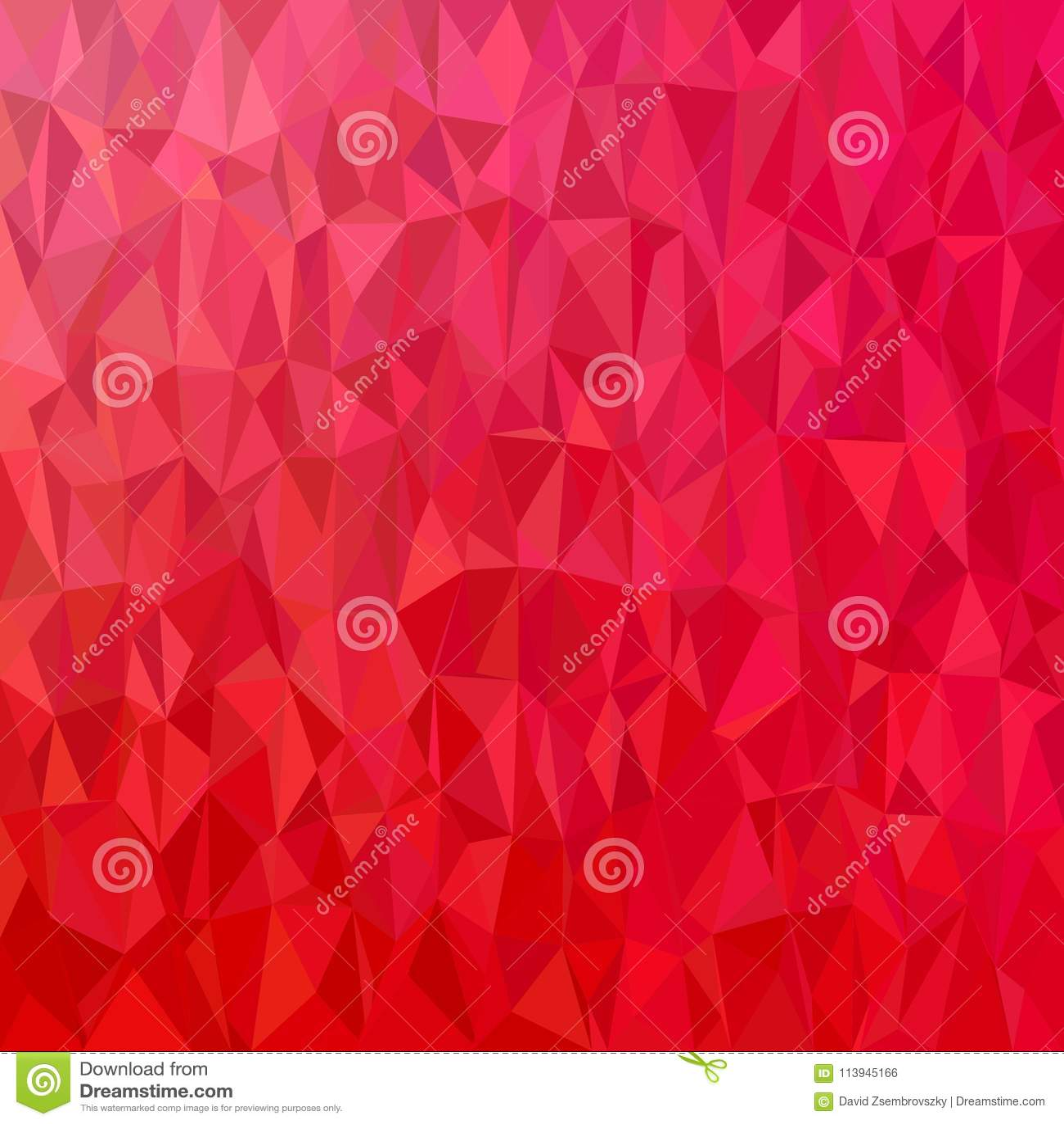 Geometrical abstrakcjonistyczny nieregularny trójboka tło - wielobok wektorowa ilustracja od czerwieni tonował trójboki