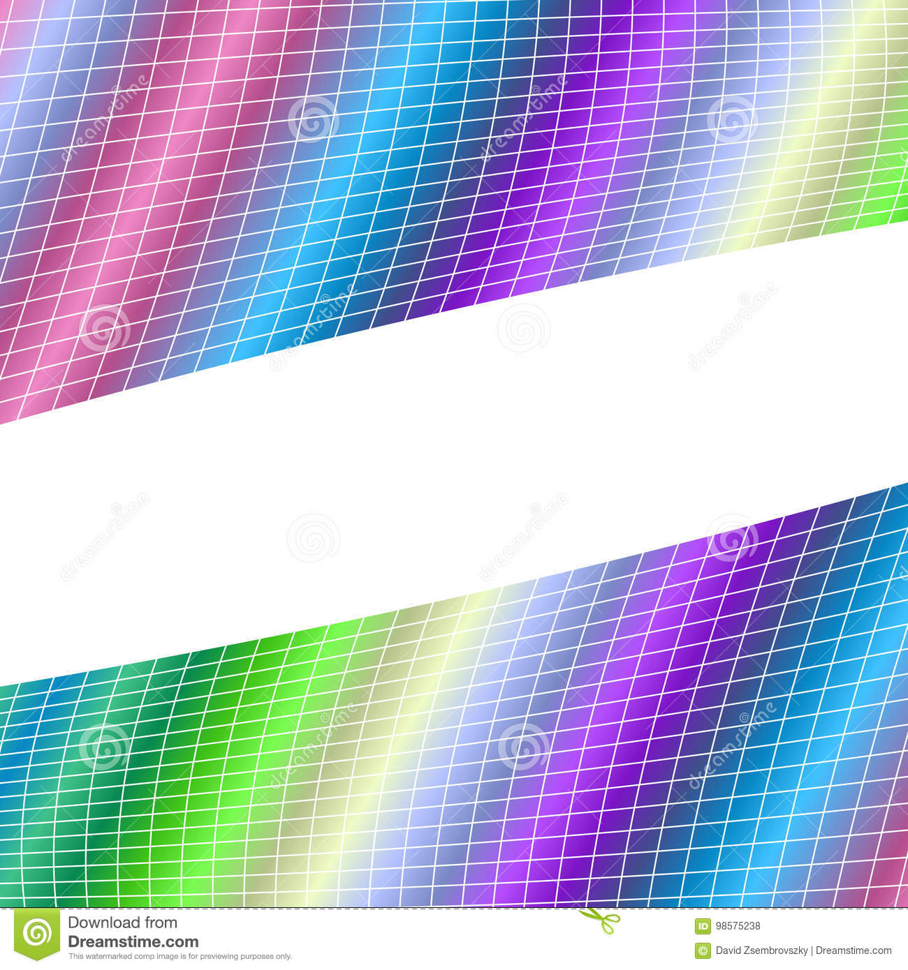 Geometrical Grid Background - Vector Illustration From Curved
