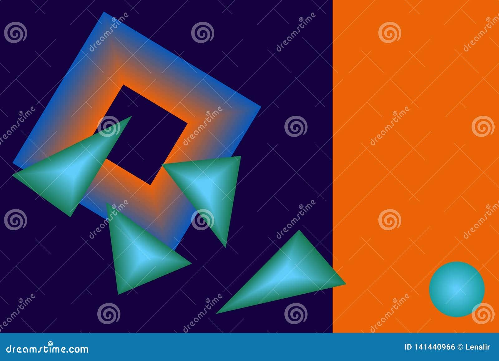 Geometrical kopii przestrzeń i postacie