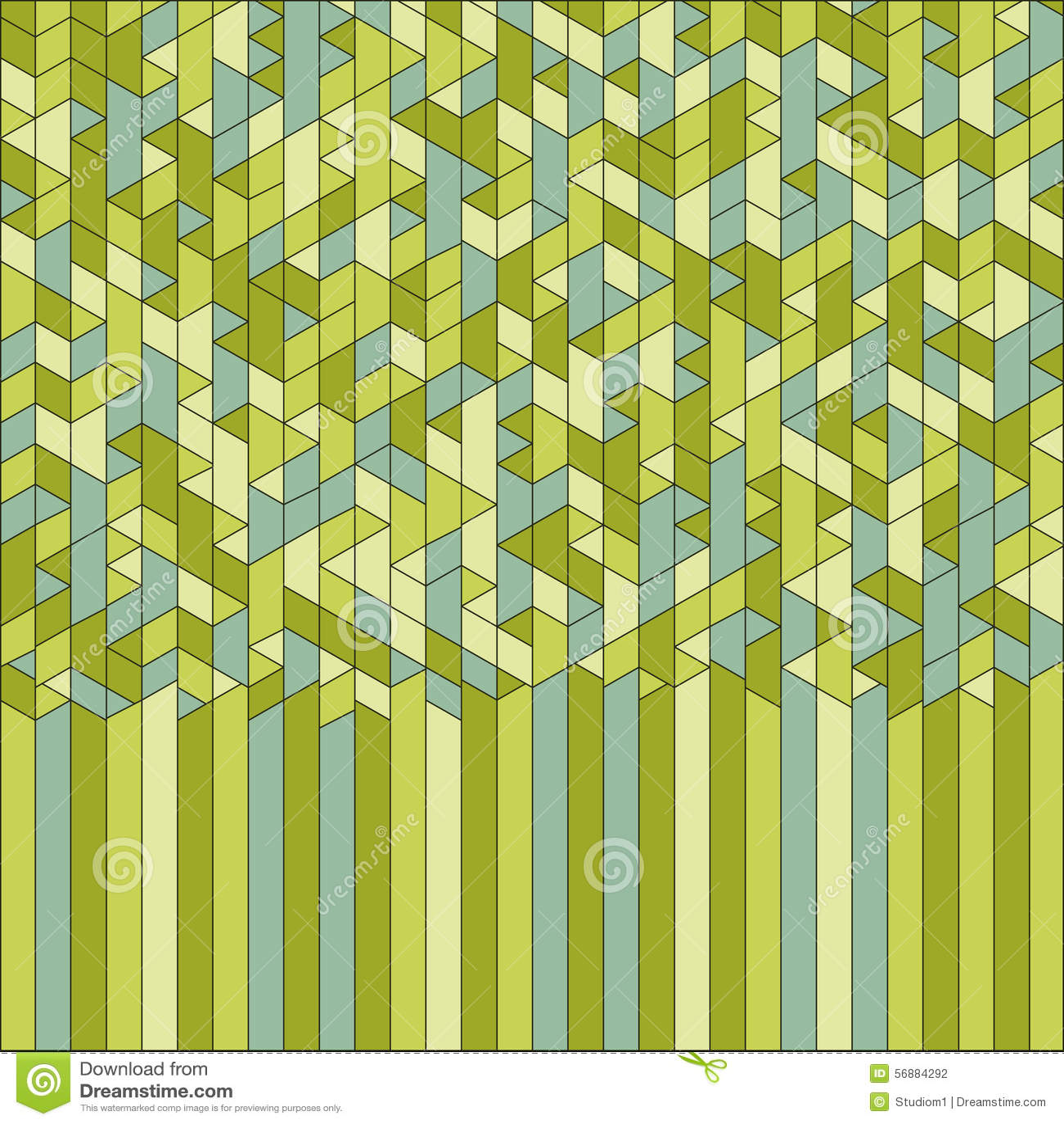 Geometrico astratto mosaico Vettore