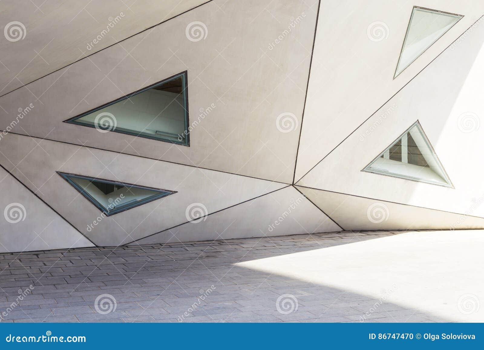 Geometrie in der Architektur, Teil der Fassade des Gebäudes, tr