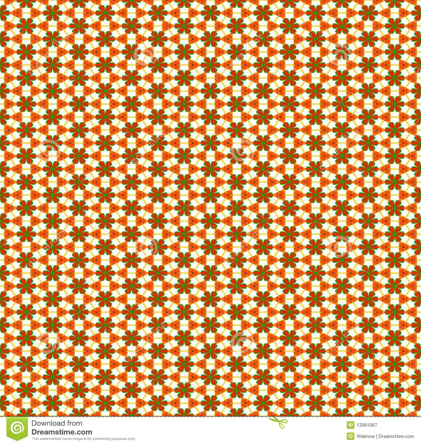 Geometrisch bloempatroon