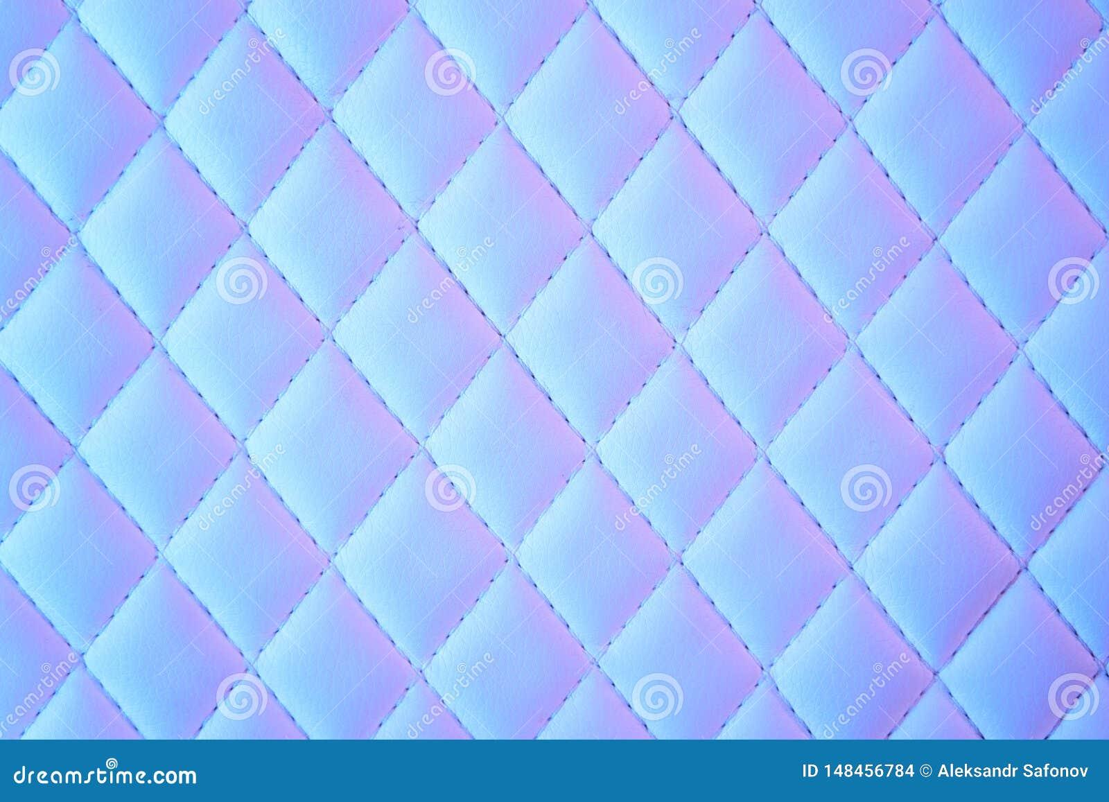 Geometrisch diamantpatroon gewatteerd Pu leer in neonlicht