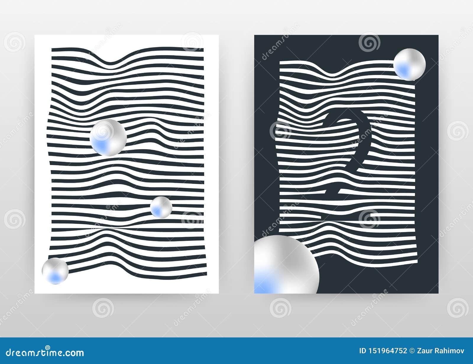 Geometrisch het golven wit en zwart lijnen bedrijfsontwerp voor jaarverslag, brochure, vlieger, affiche De lijnenachtergrond van