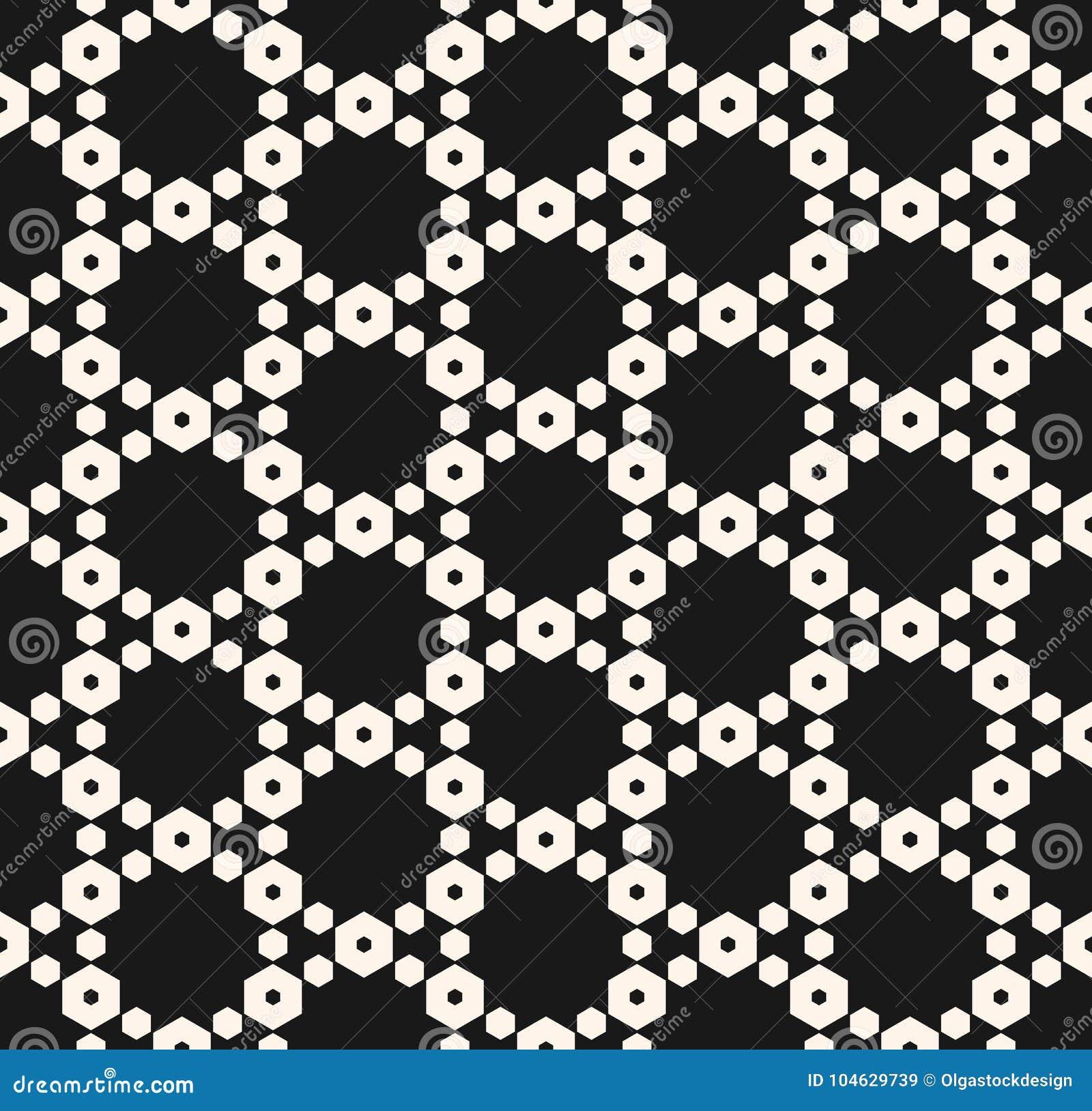 Download Geometrisch Naadloos Patroon Met Gevoelig Hexagonaal Rooster Vector Illustratie - Illustratie bestaande uit netwerk, honing: 104629739