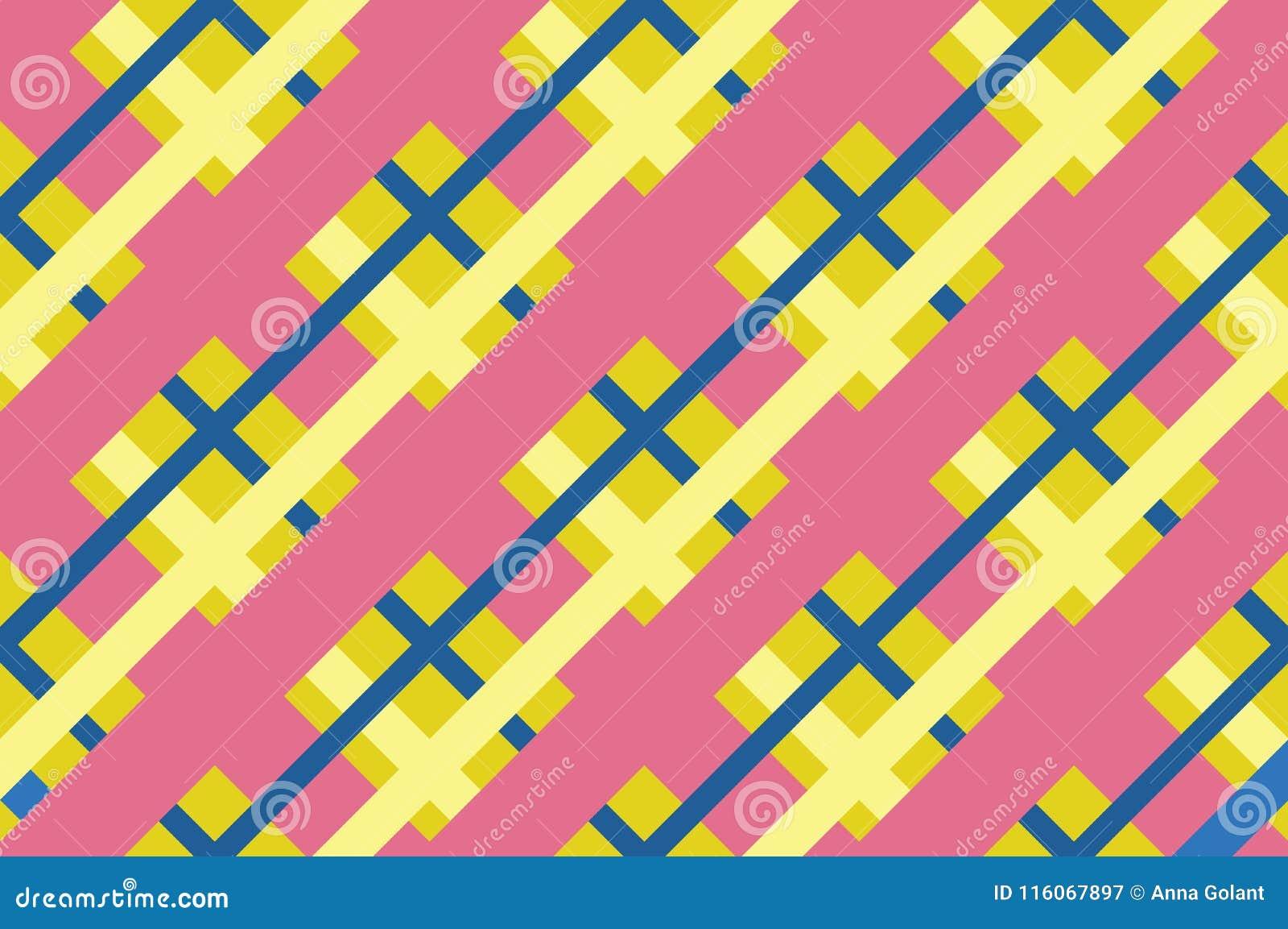bb7a9570cc6181 Geometrisch naadloos patroon met het snijden van lijnen, netten, cellen  Kruiselingse achtergrond in traditionele tegelstijl Voor druk op stof,  document, ...