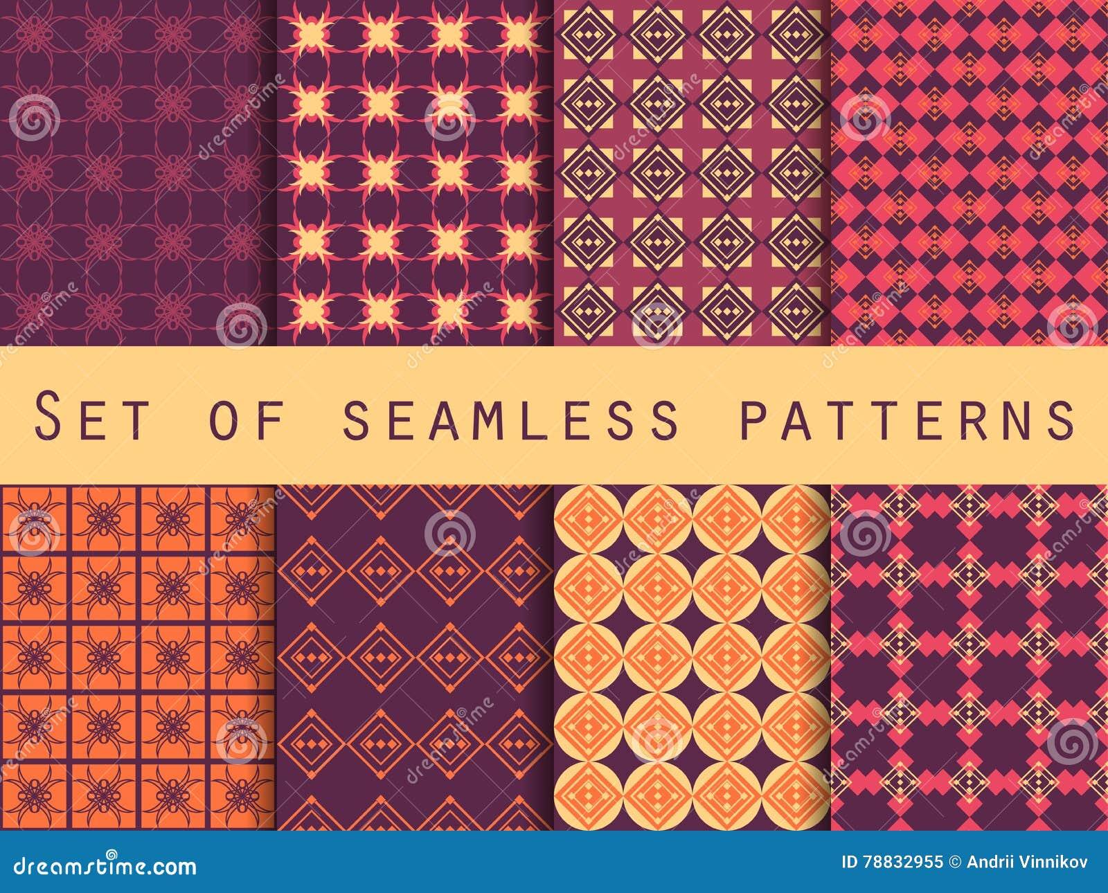 c6c56615261fdc Geometrisch Naadloos Patroon Patronen Met Geometrische Vormen Vector ...