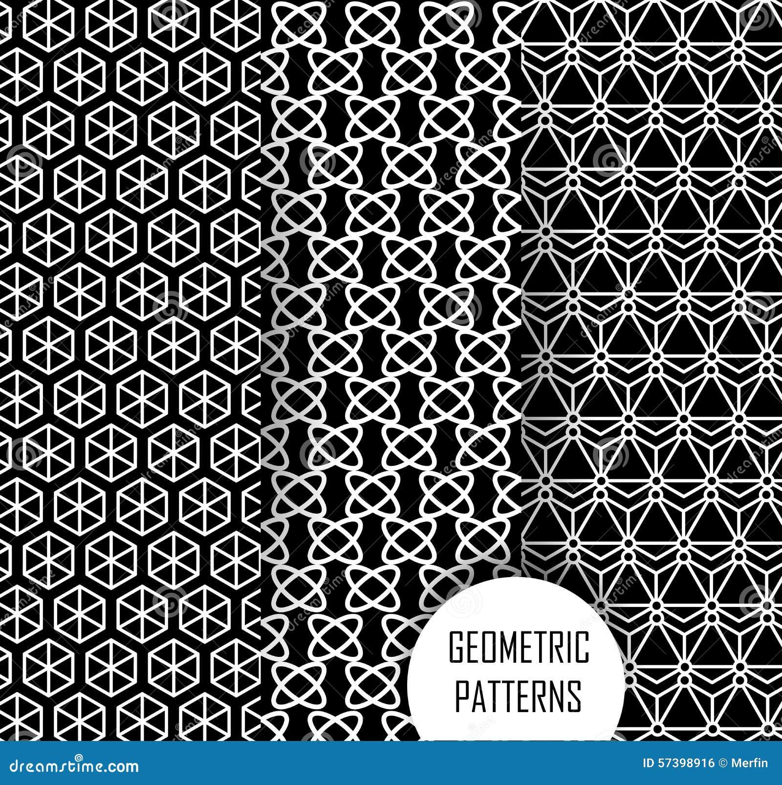 Geometrisch patroon in op kunstontwerp Zwarte en