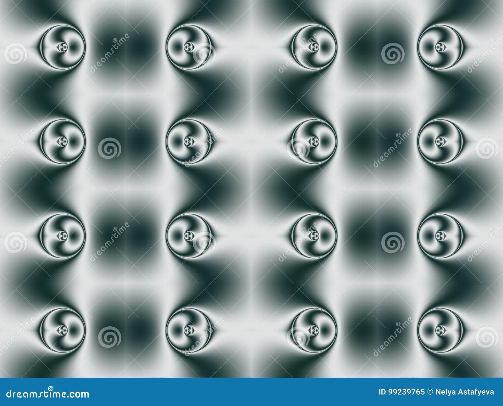 Geometrisch patroon van bellen met Centrale symmetrie