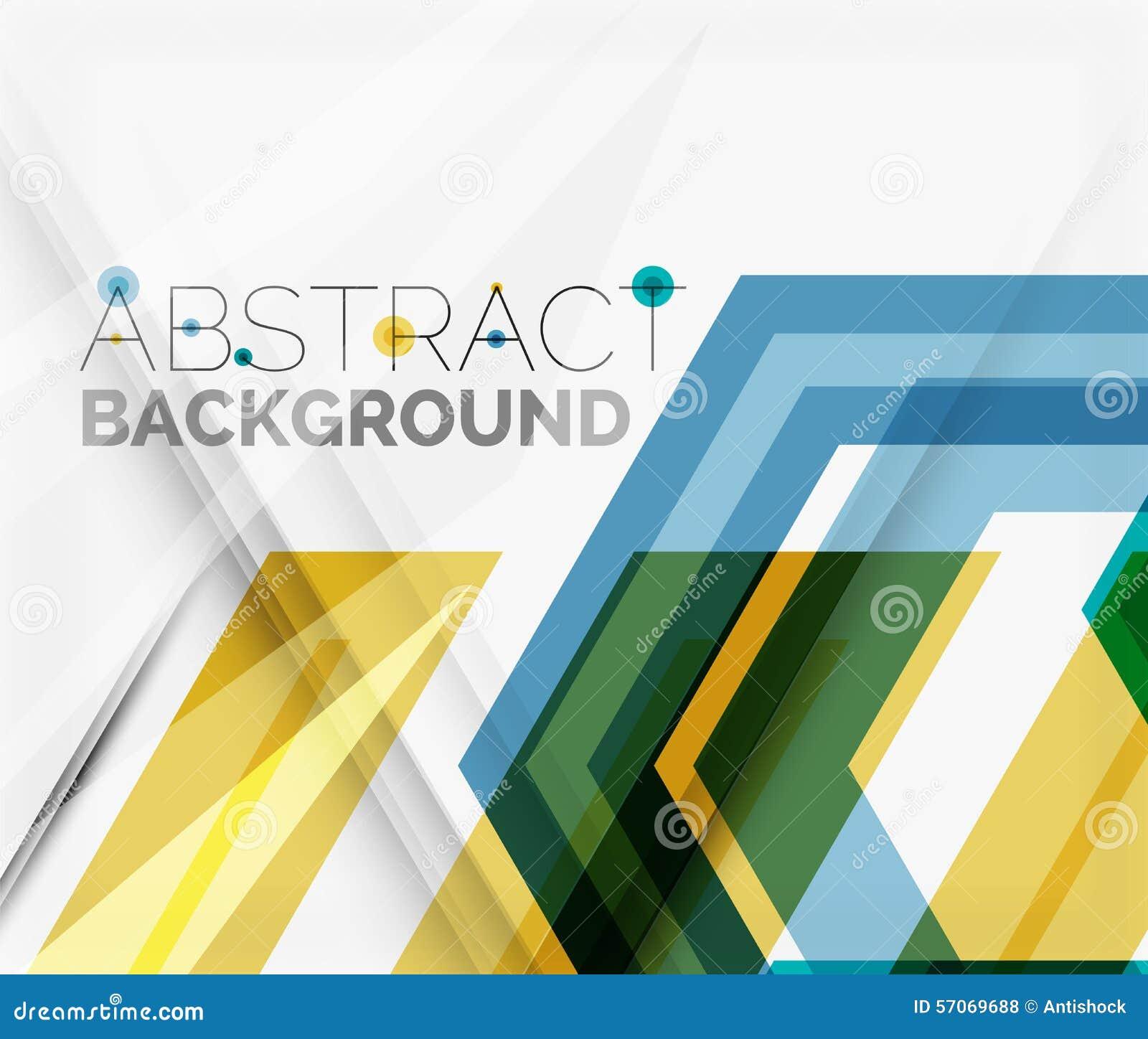 Geometrische abstracte achtergrond Het ontwerp van de pijl