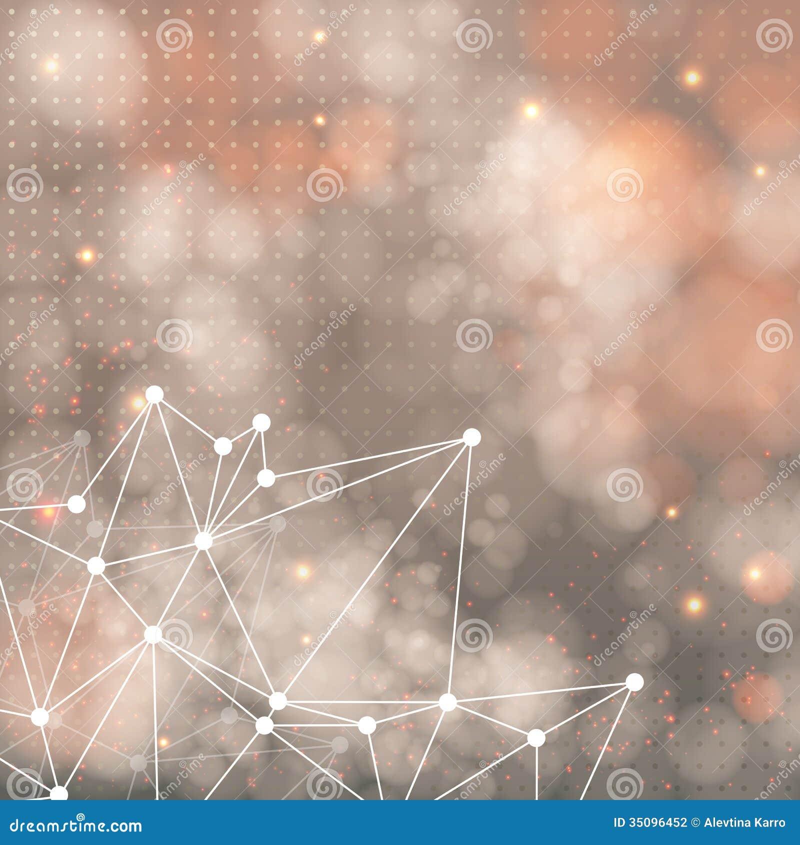 Geometrische achtergrond met driehoekselementen en plaats voor Uw t