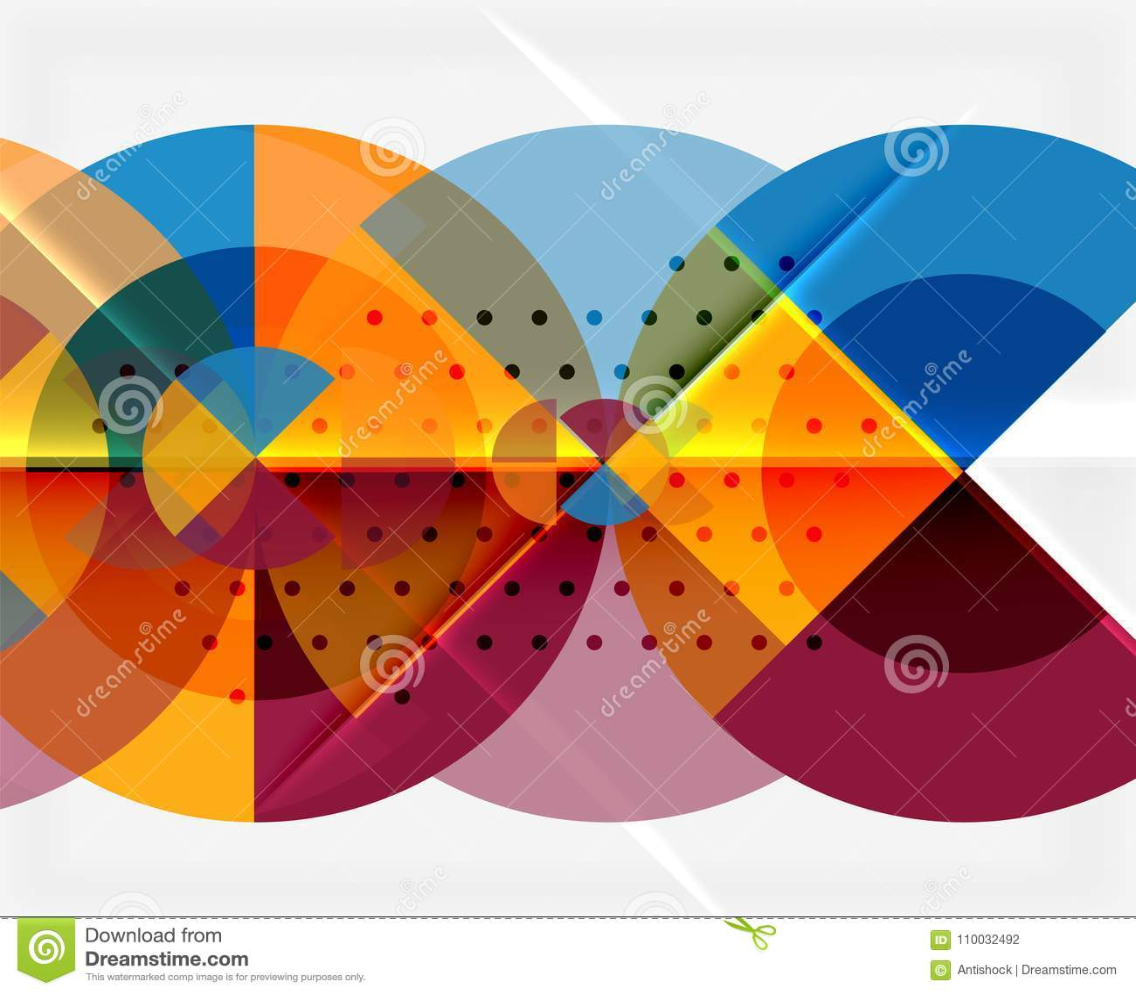 Geometrische cirkel abstracte banner