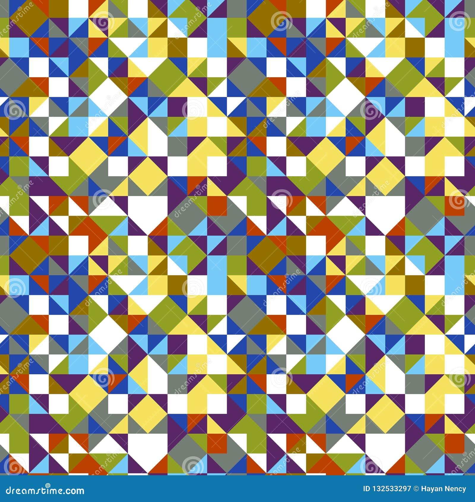 Geometrische driehoek betegelde patroonachtergrond