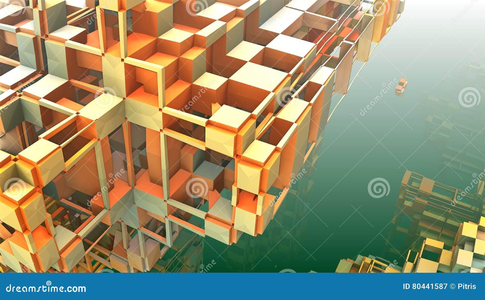 geometrische formen 3d die in raum schwimmen stock abbildung bild 80441587. Black Bedroom Furniture Sets. Home Design Ideas
