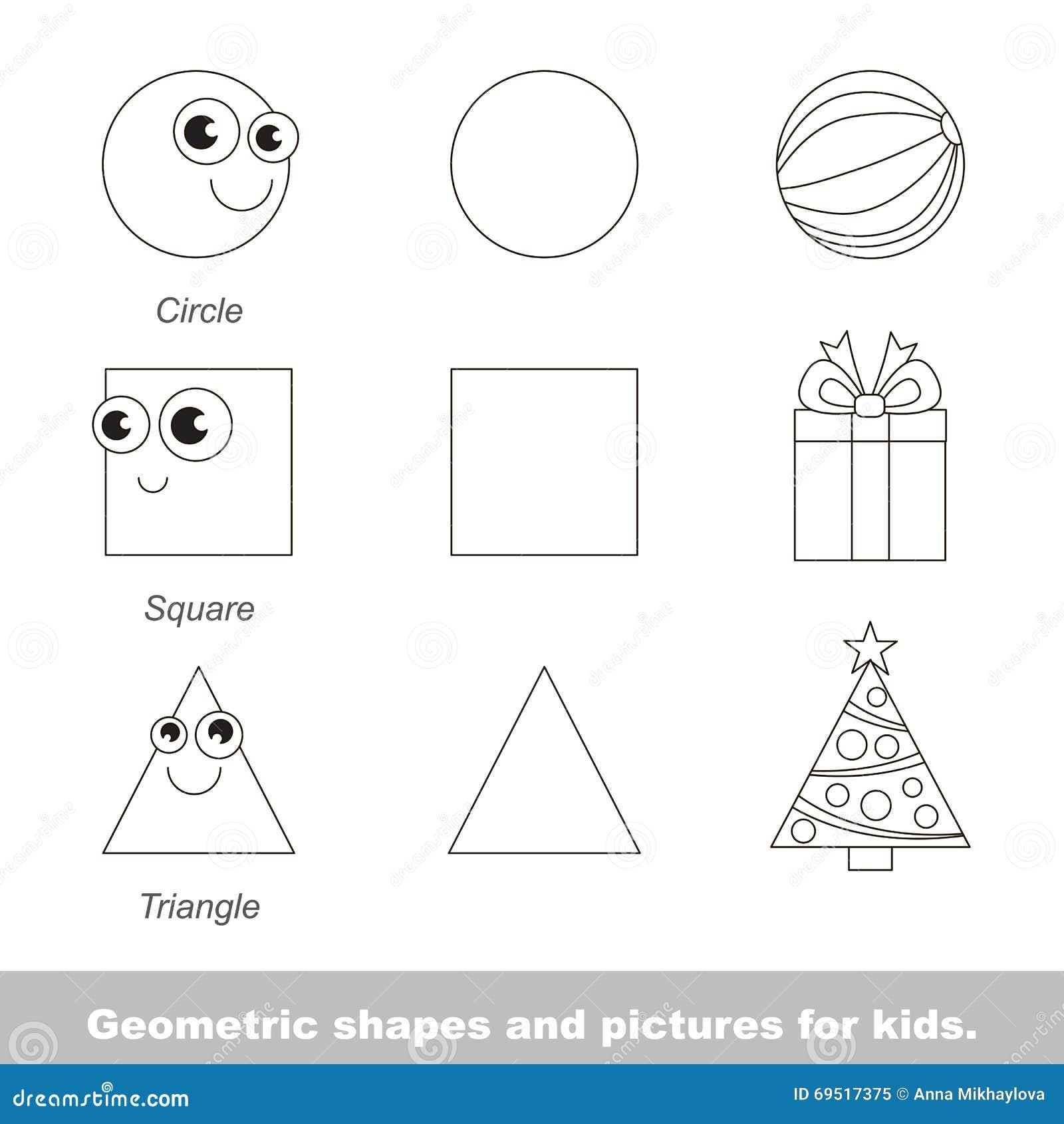 Geometrische Formen Für Kinder Vektor Abbildung - Illustration von ...