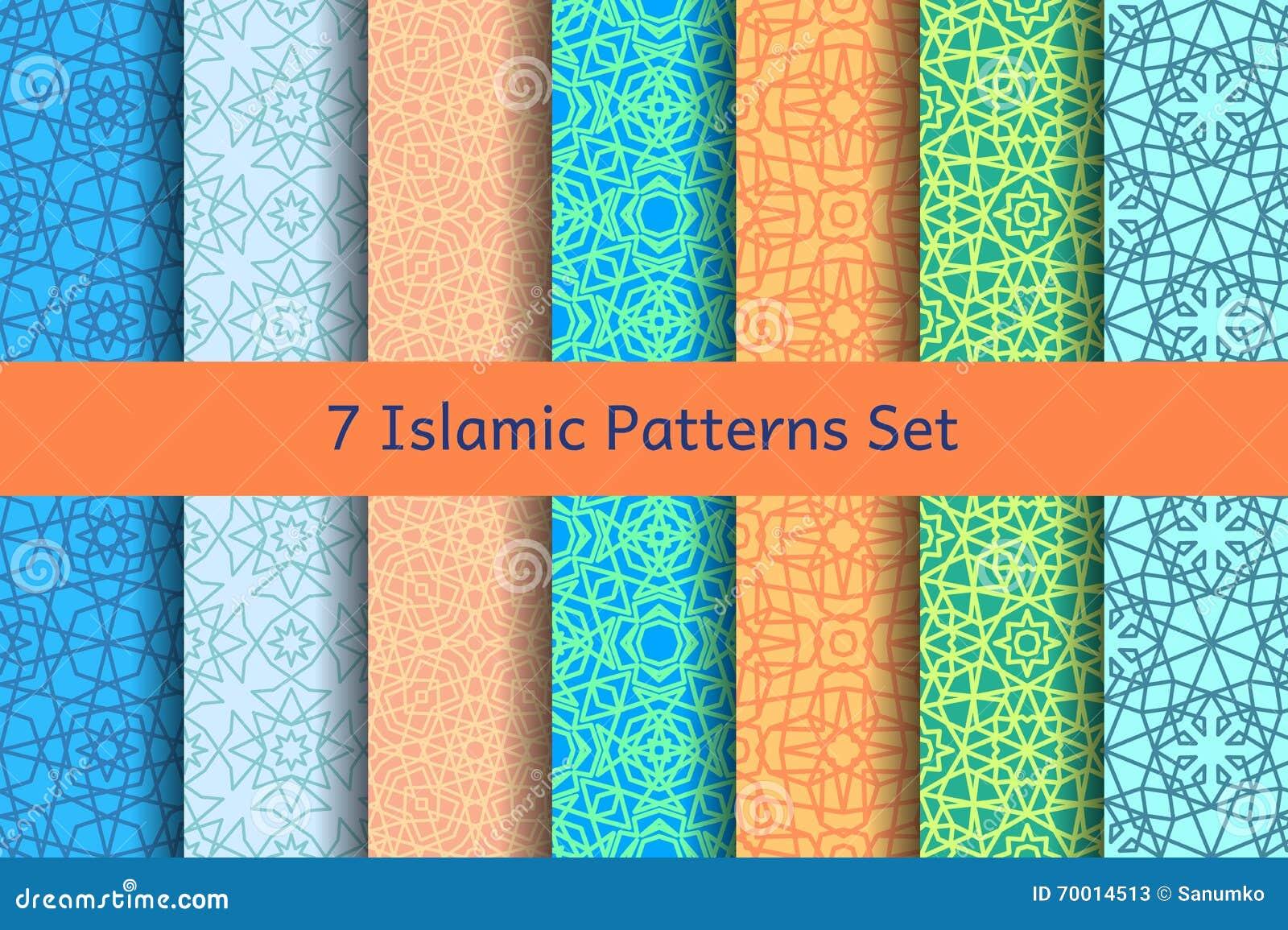 geometrische islamische arabische muster eingestellt