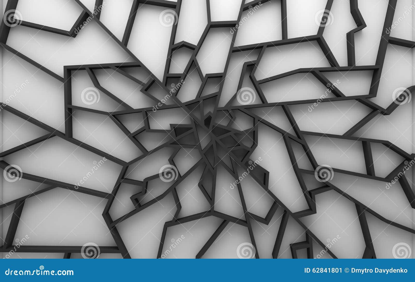 Geometrische kleuren abstracte veelhoeken, als barstmuur stock ...