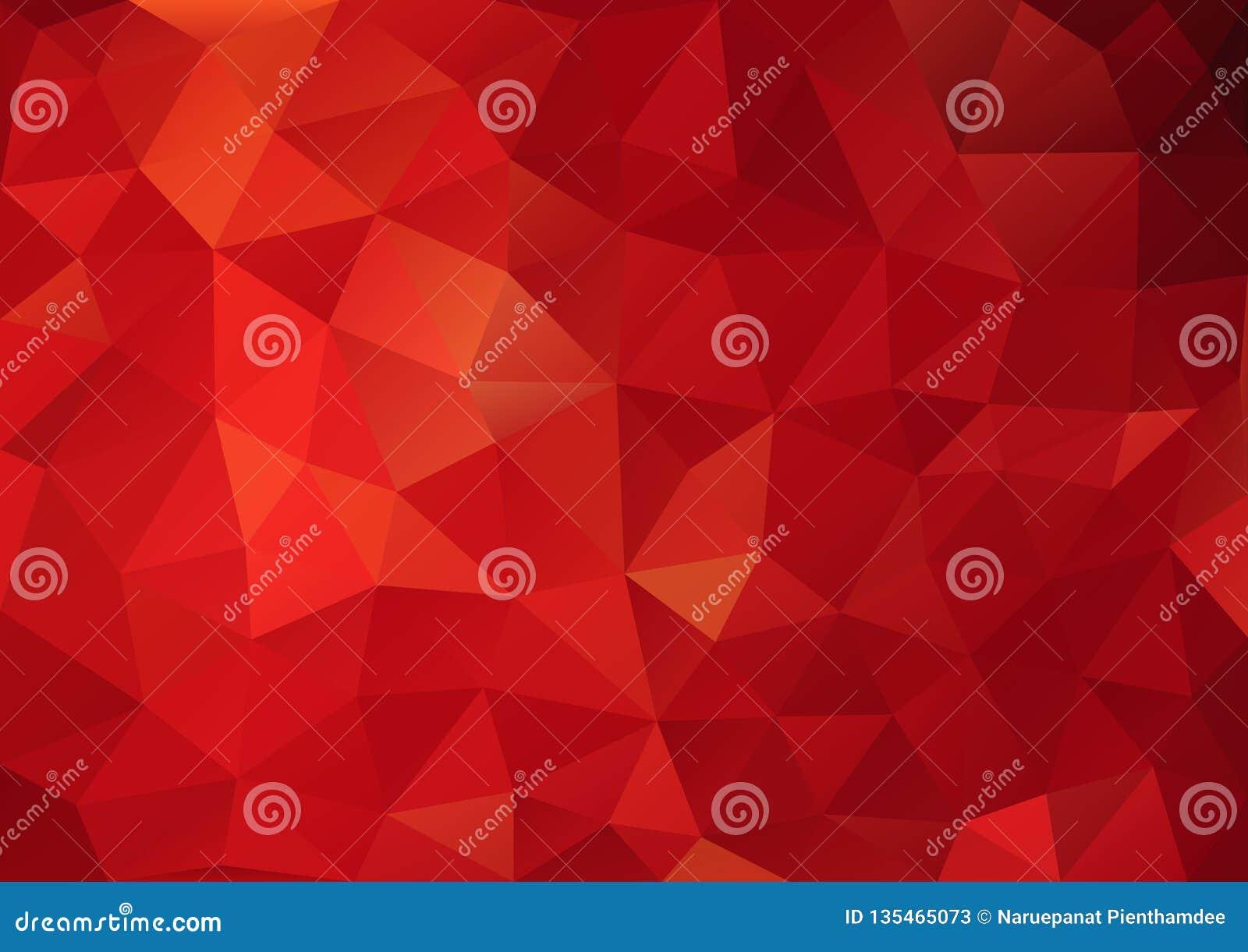 Geometrische patroon rode kleur