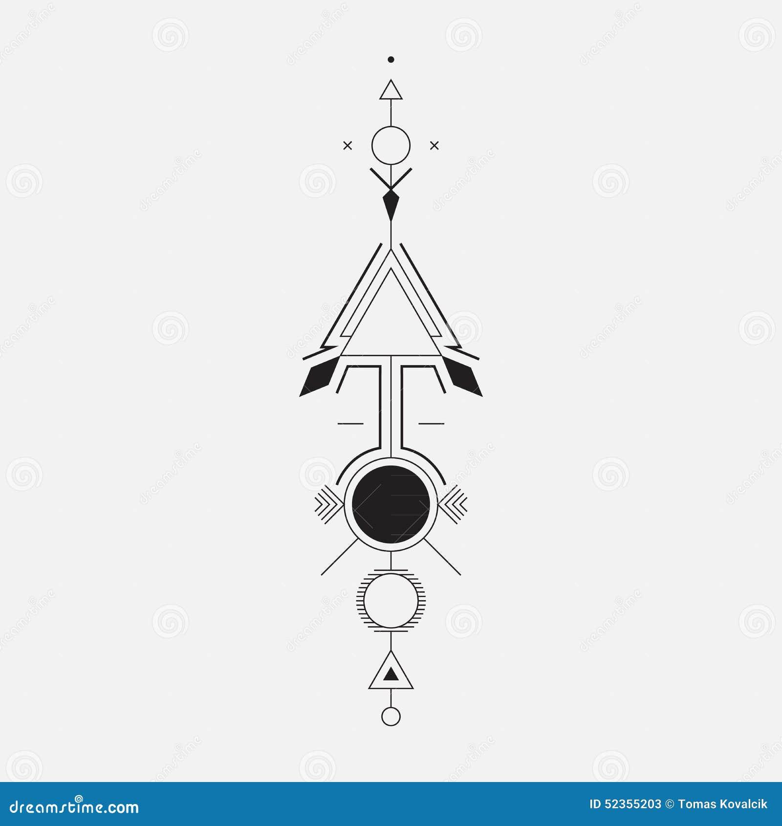Geometrische pijl