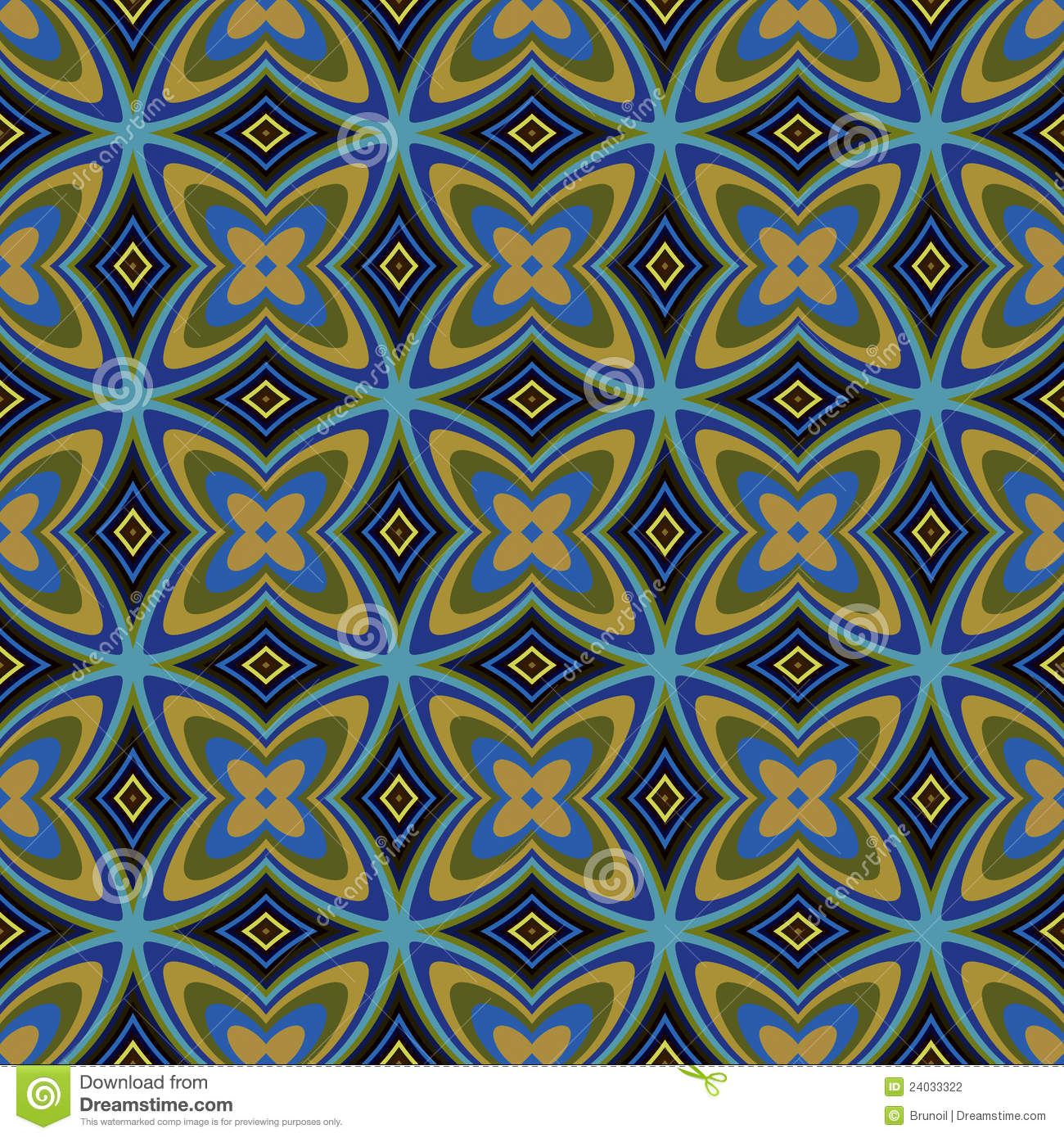 Retro Design Tapeten Muster : Geometric Pattern