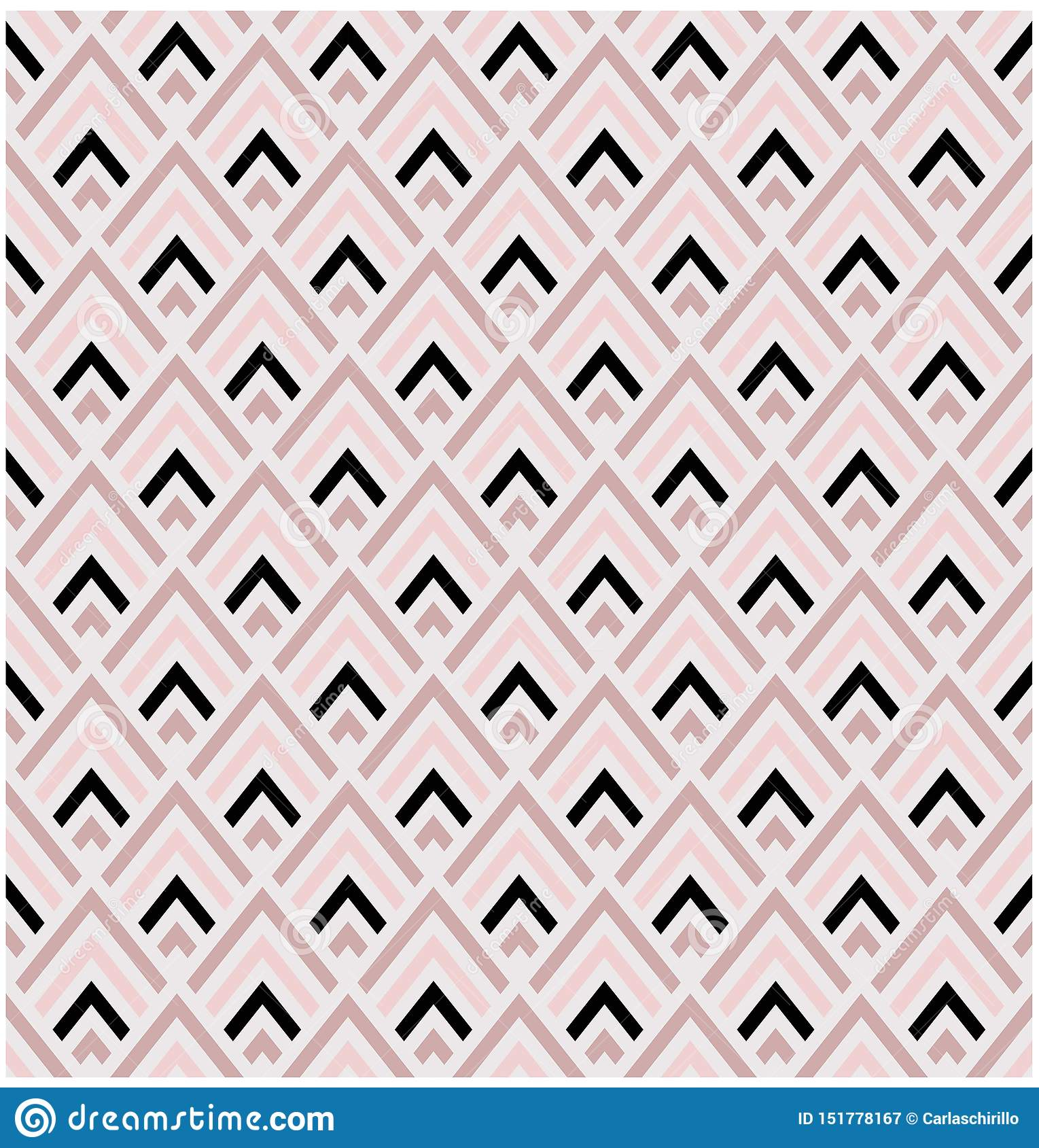 Geometrische roze en zwarte naadloze vector het patroontegel van diamantvormen
