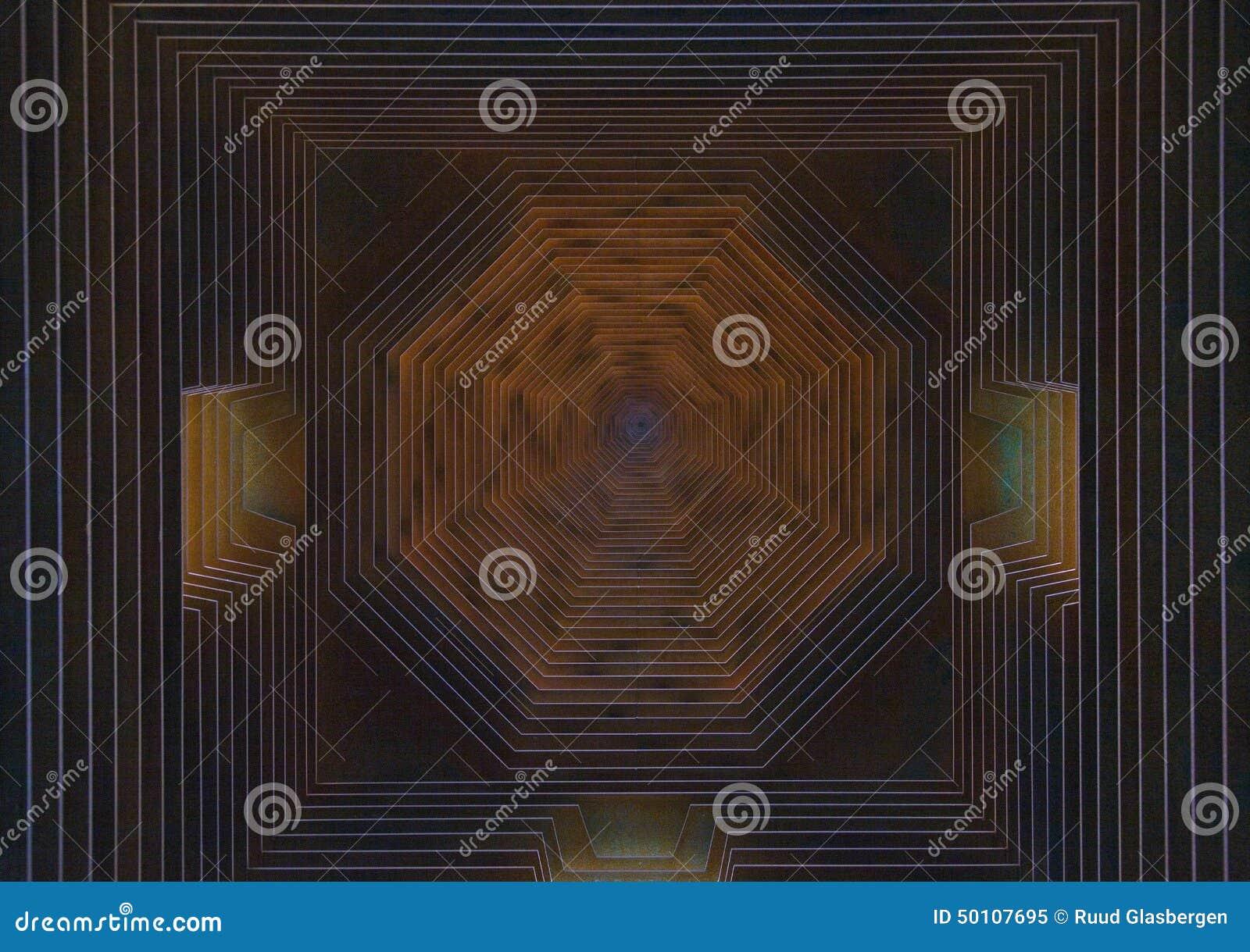Geometrische samenstelling van corten staal stock afbeelding