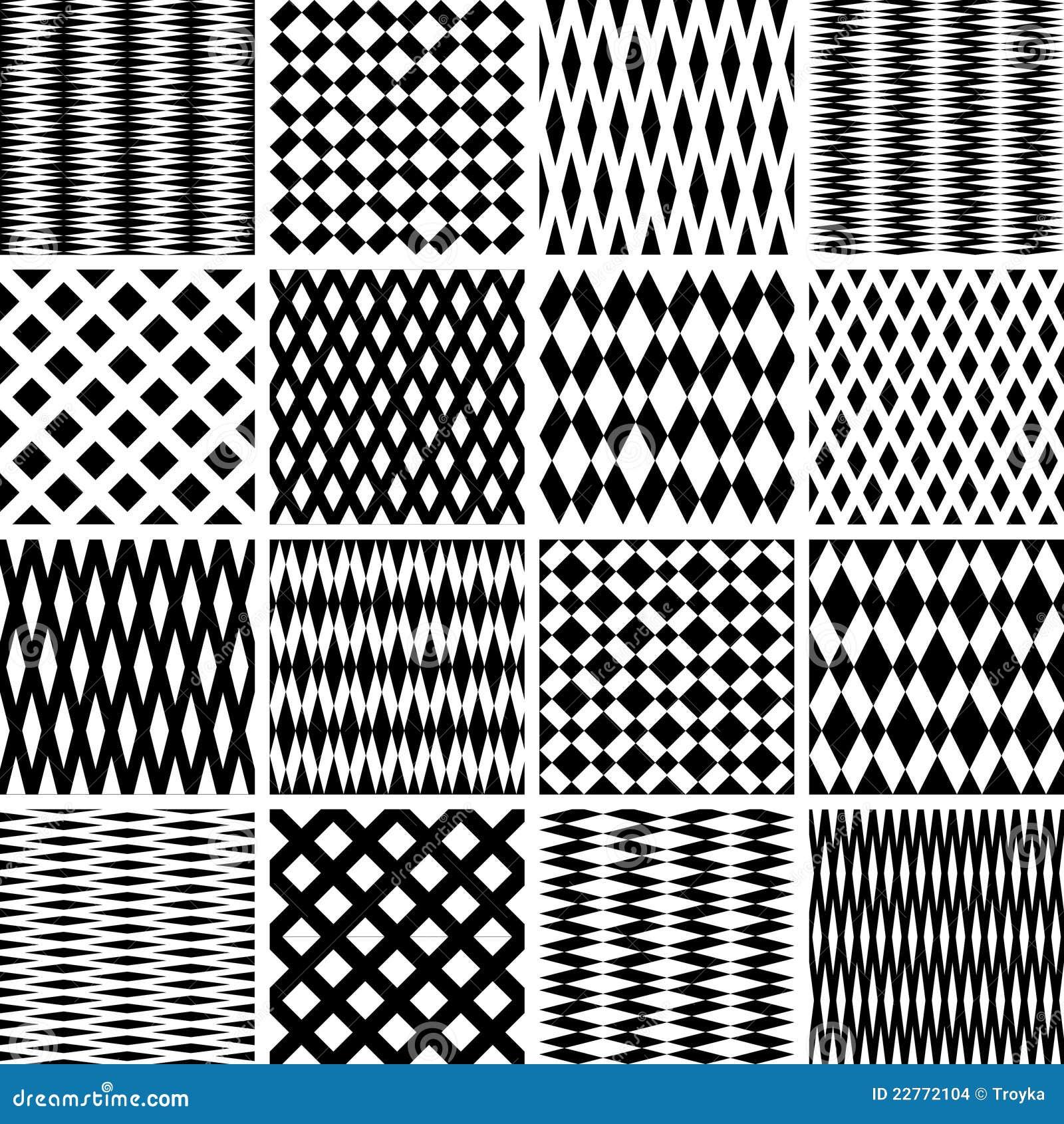 Geometrische texturen. Naadloze geplaatste patronen.
