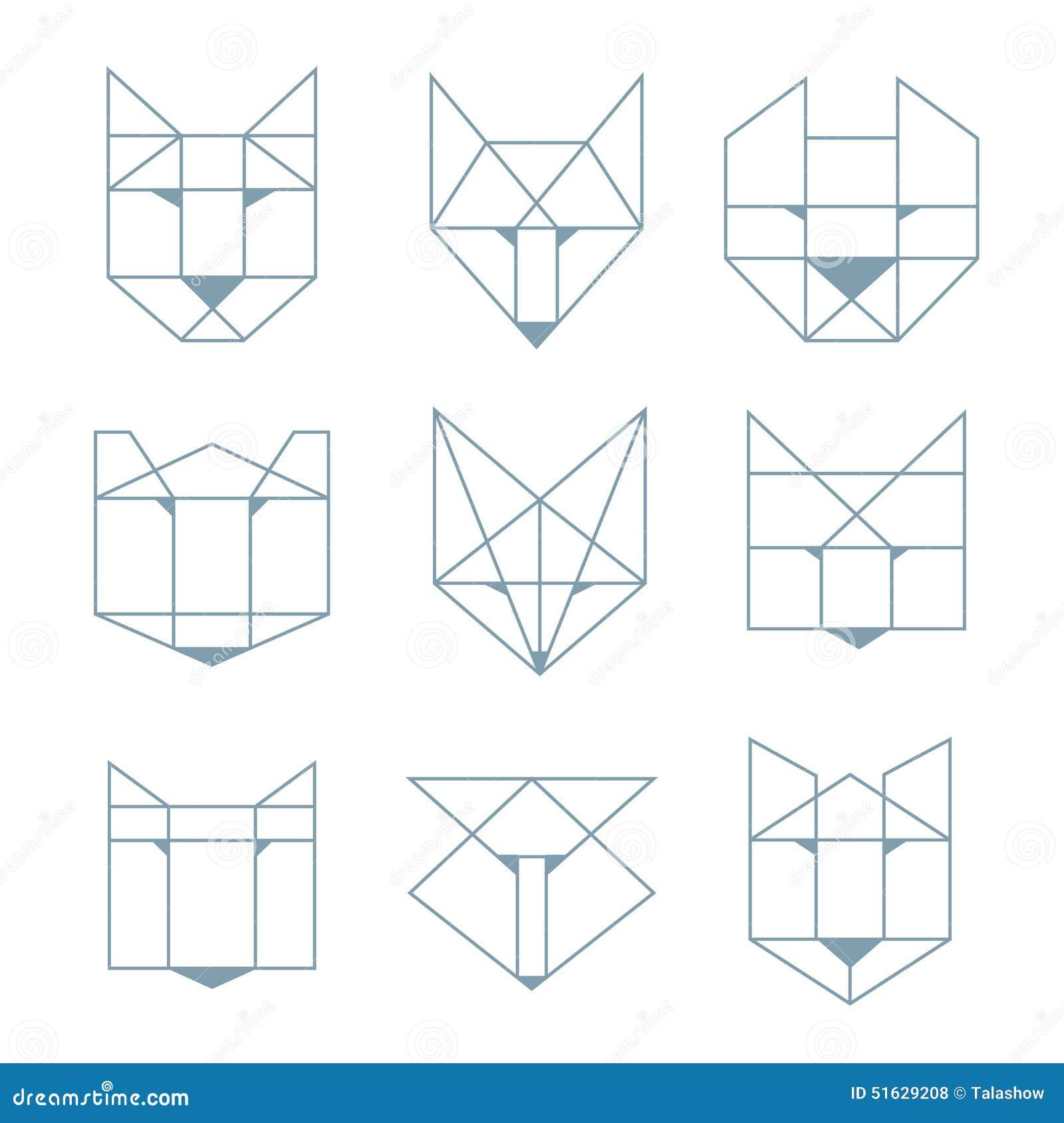 Geometrische Tiere Vektor Abbildung Bild Von Tier Hund