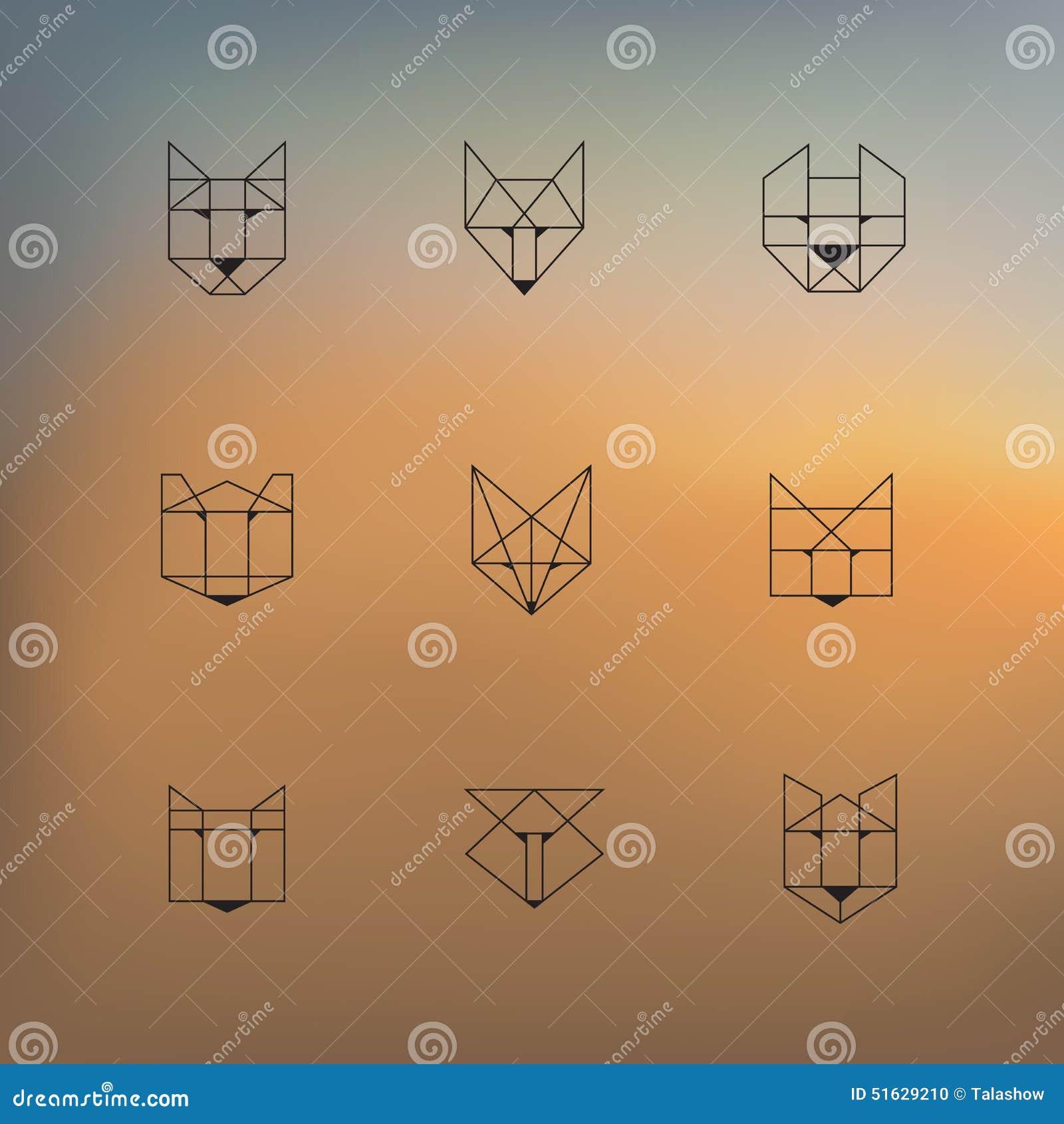 geometrische tiere vektor abbildung illustration von minimal 51629210. Black Bedroom Furniture Sets. Home Design Ideas