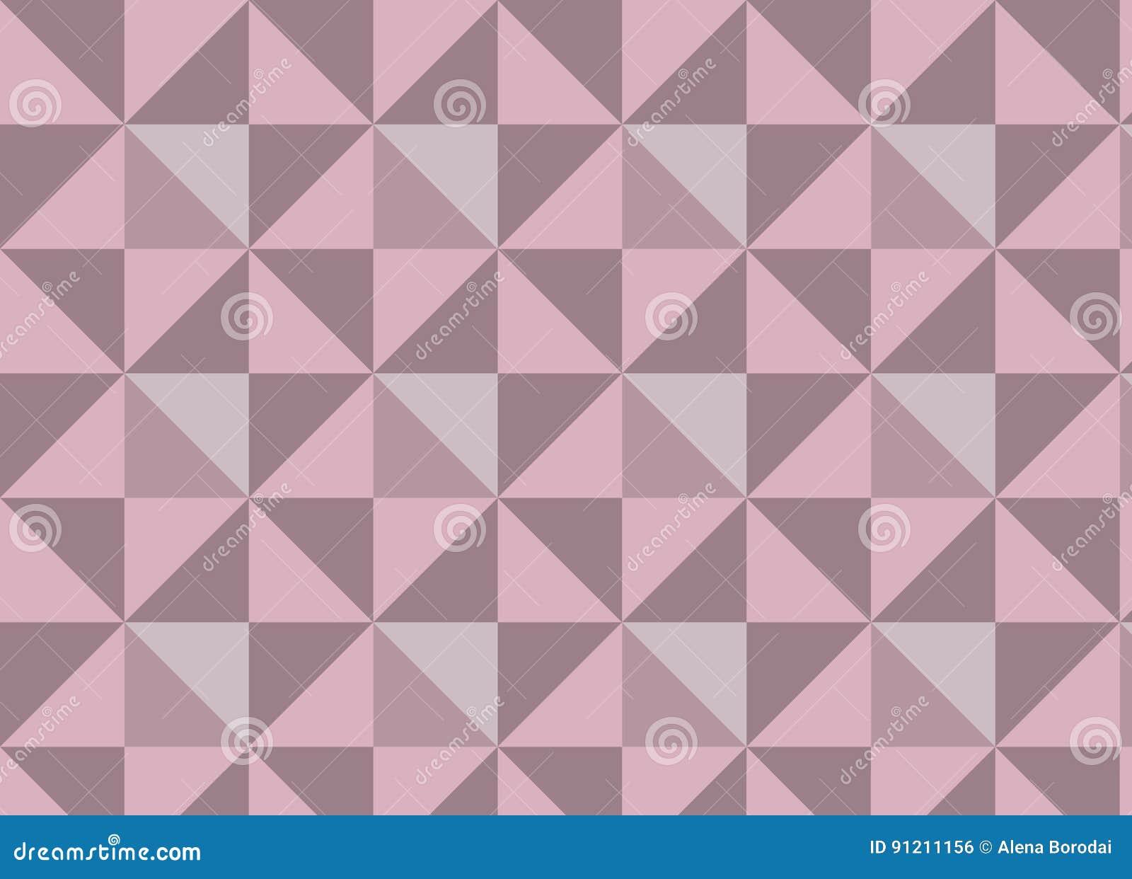 Geometrische Vektorbeschaffenheit mit den rosa und hellen Dreiecken