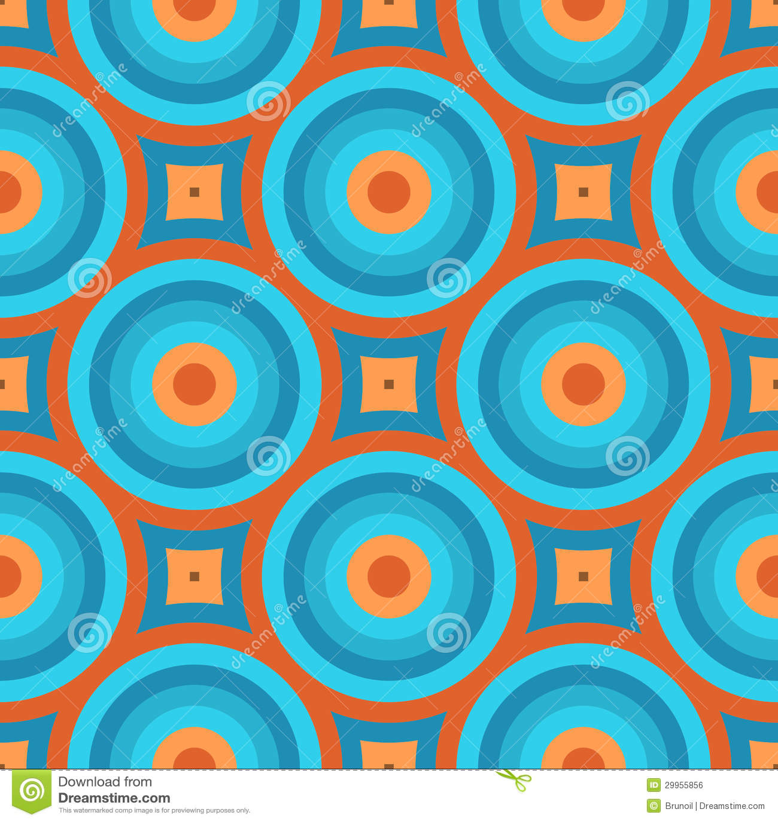 geometrische weinlese retro tapeten nahtlose muster illustration 29955856 - Retro Tapete Blau
