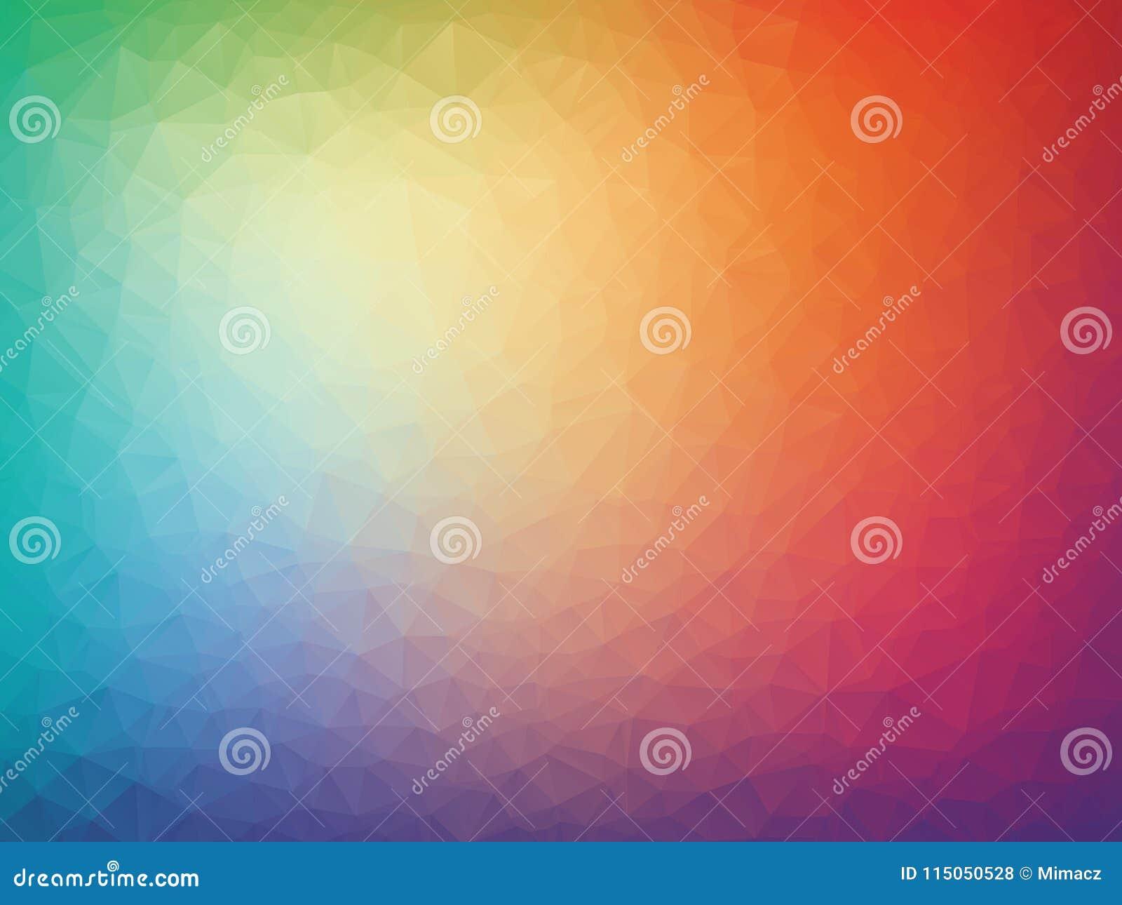 Geometrischer Hintergrund der abstrakten bunten Dreiecke des Vektors