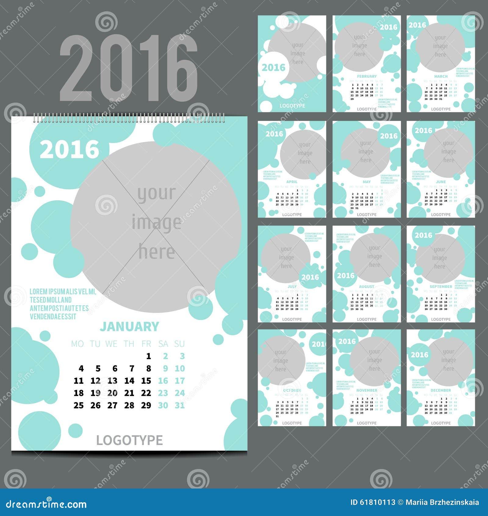 geometrischer kalender von 2016 auch im corel abgehobenen. Black Bedroom Furniture Sets. Home Design Ideas