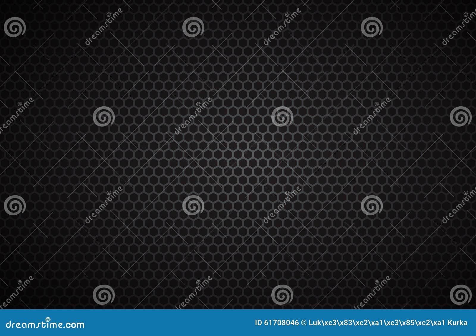 Geometrischer Polygonhintergrund, abstrakte schwarze metallische Tapete