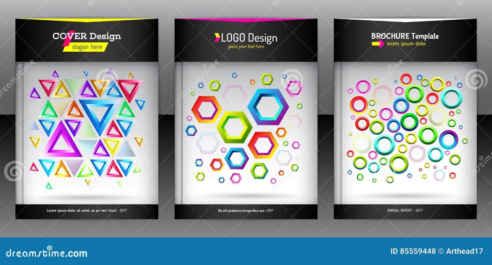 Geometrischer Satz der Broschüre des Hexagons, des Dreiecks und der runden Formen