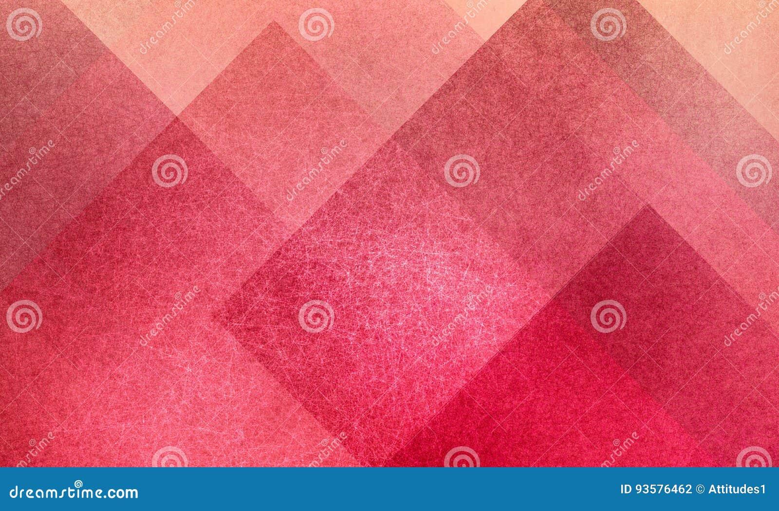 Geometrisches abstraktes Rosa- und Pfirsichhintergrundmuster entwerfen mit Diamanten und blockieren die Quadrate, die mit Beschaf