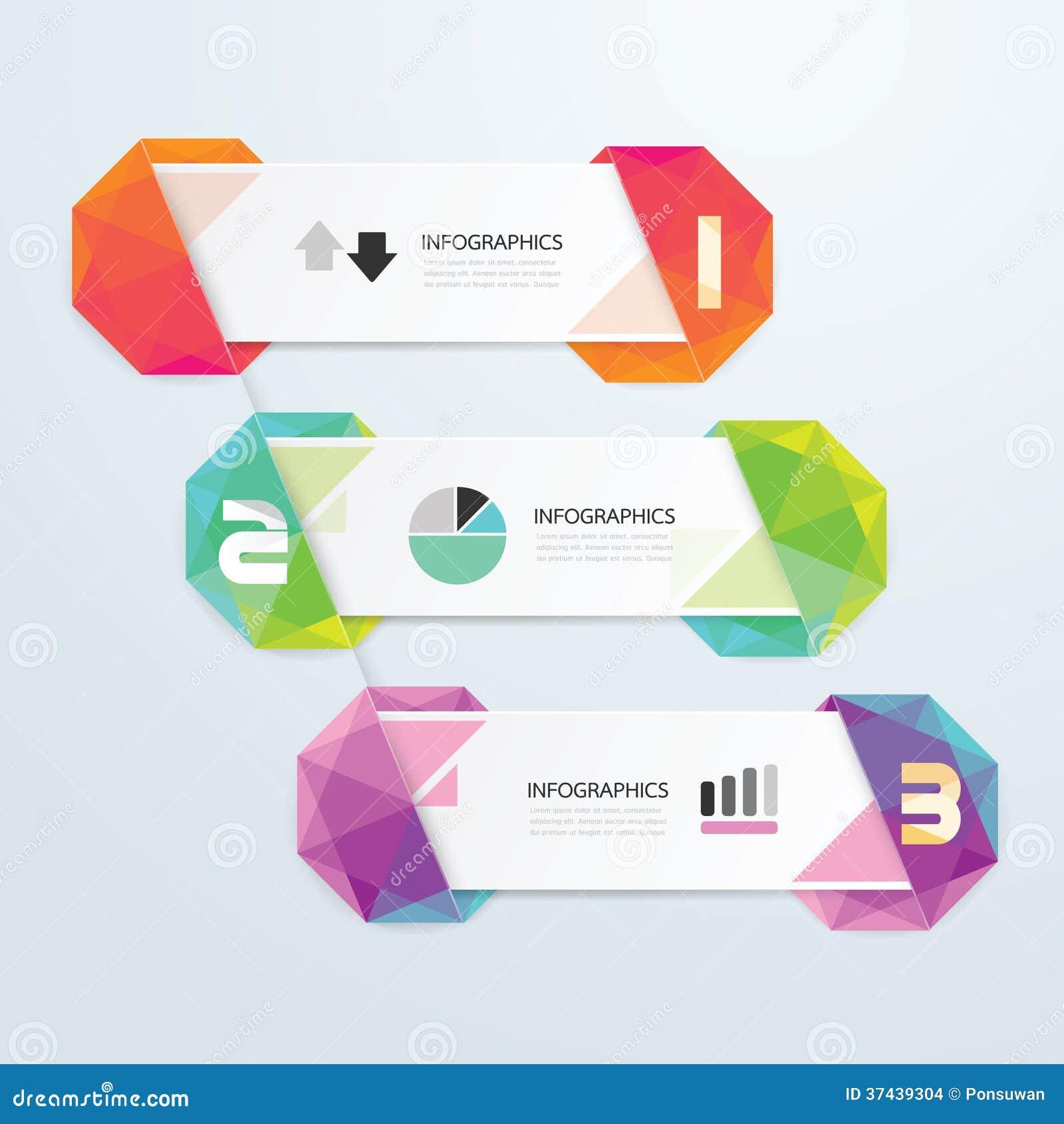 Geometrisches buntes modernes Design