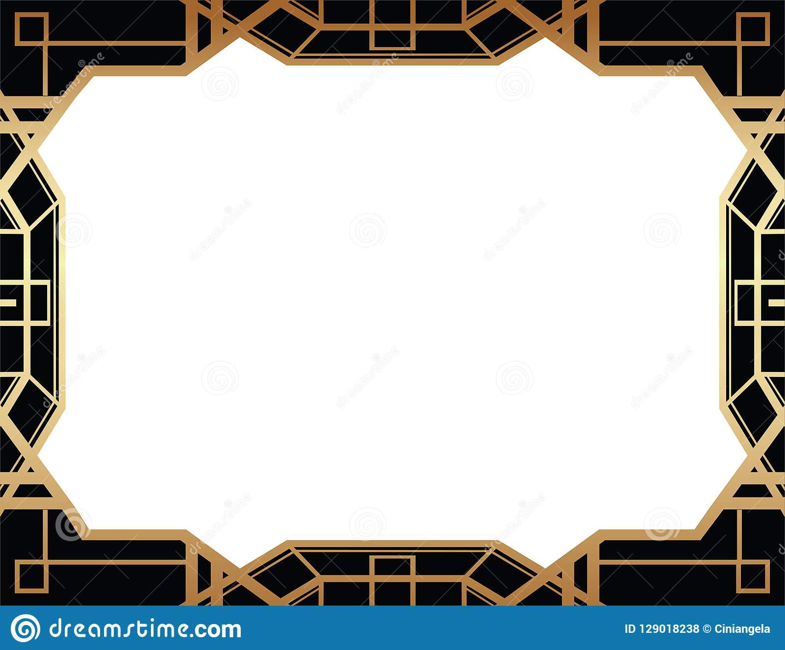 Geometrisches Design Gatsby Art Deco Style Border Frame Vektor
