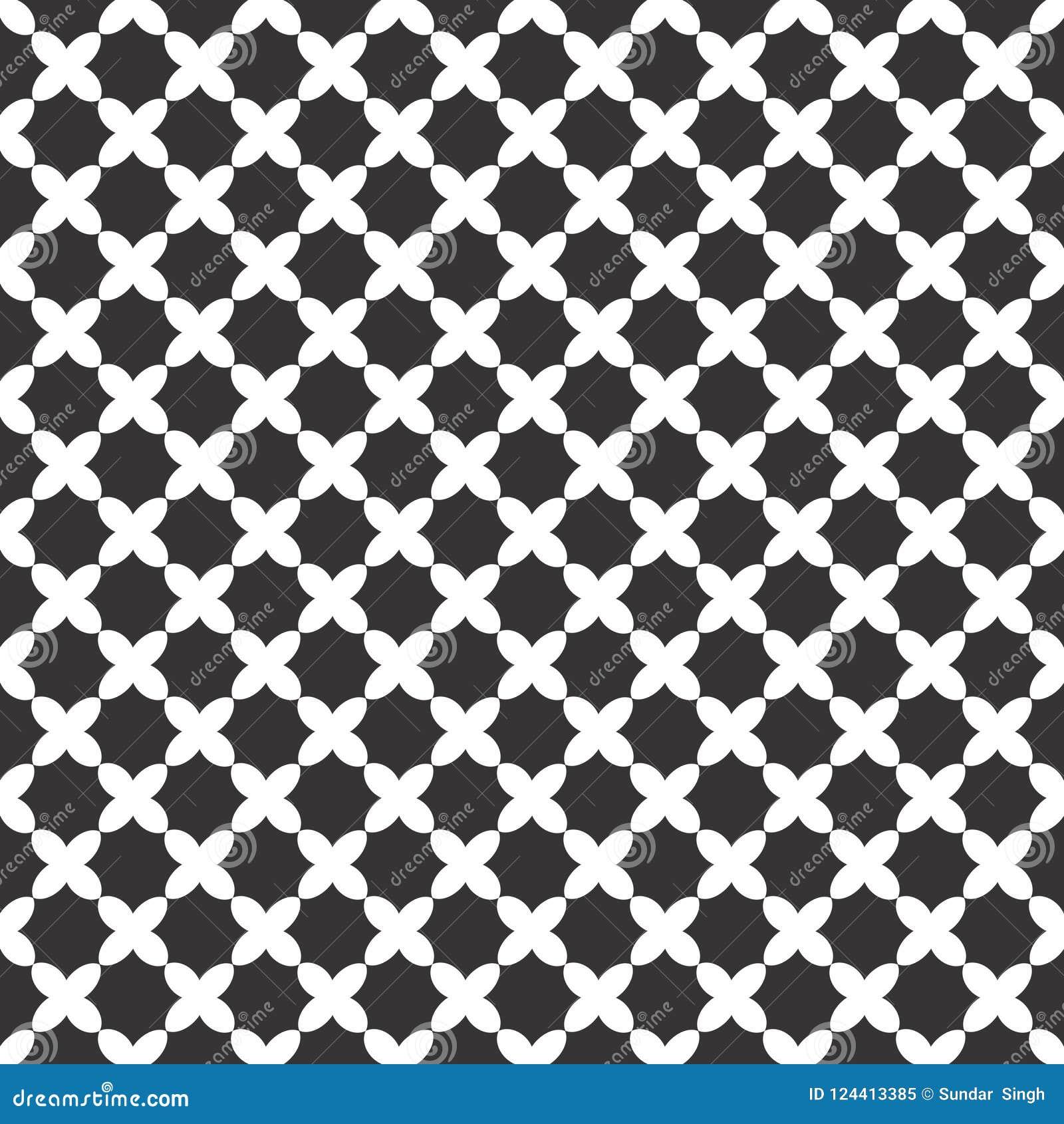 Geometrisches Muster der nahtlosen Schwarzweiss-Welle Dekoration, schön