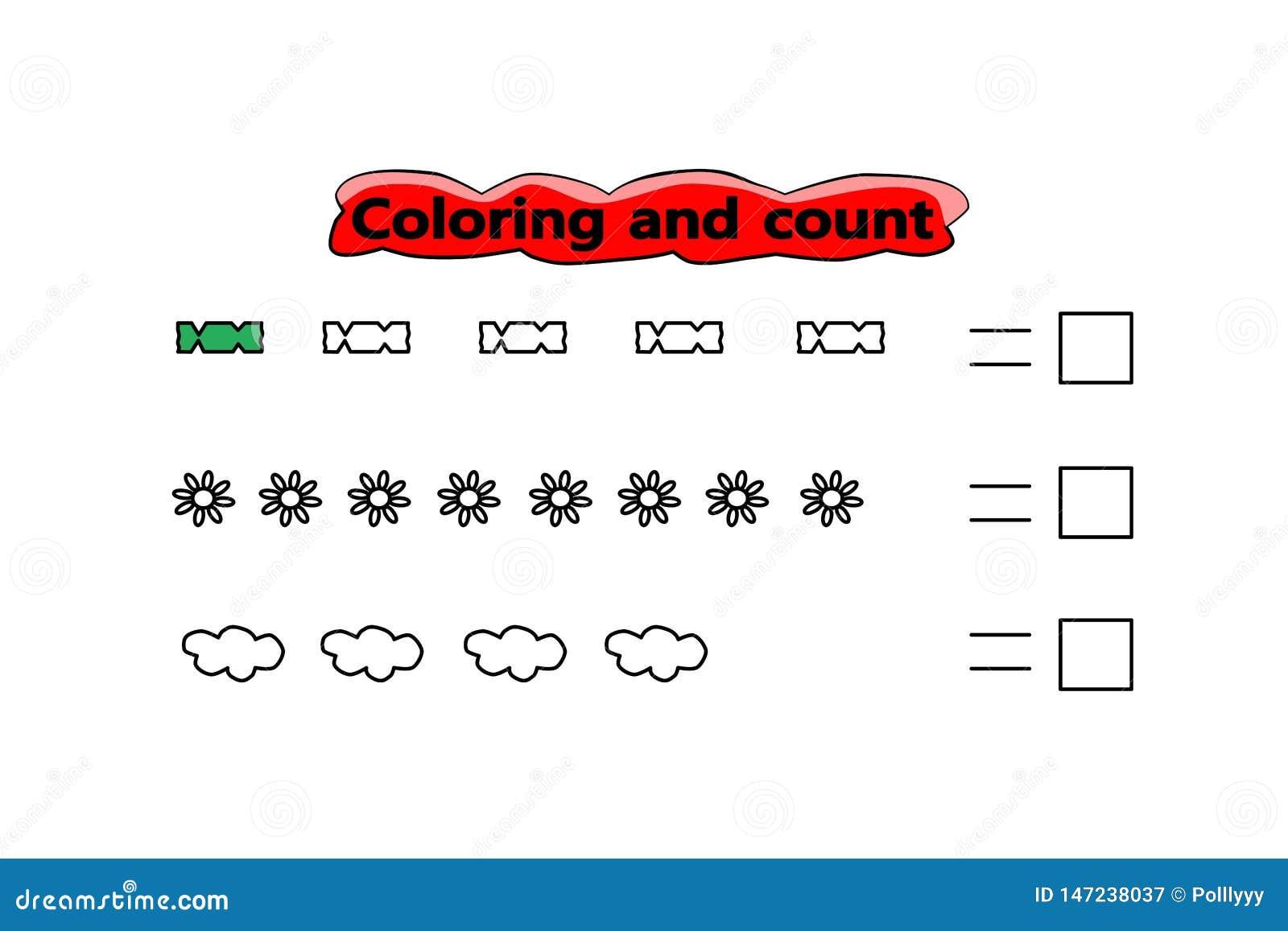 Geometrisches Muster VectGame für Kinder Farbtonschablone Kinderschulübung Interessantes Kindergartenrätsel Spaßmathematik
