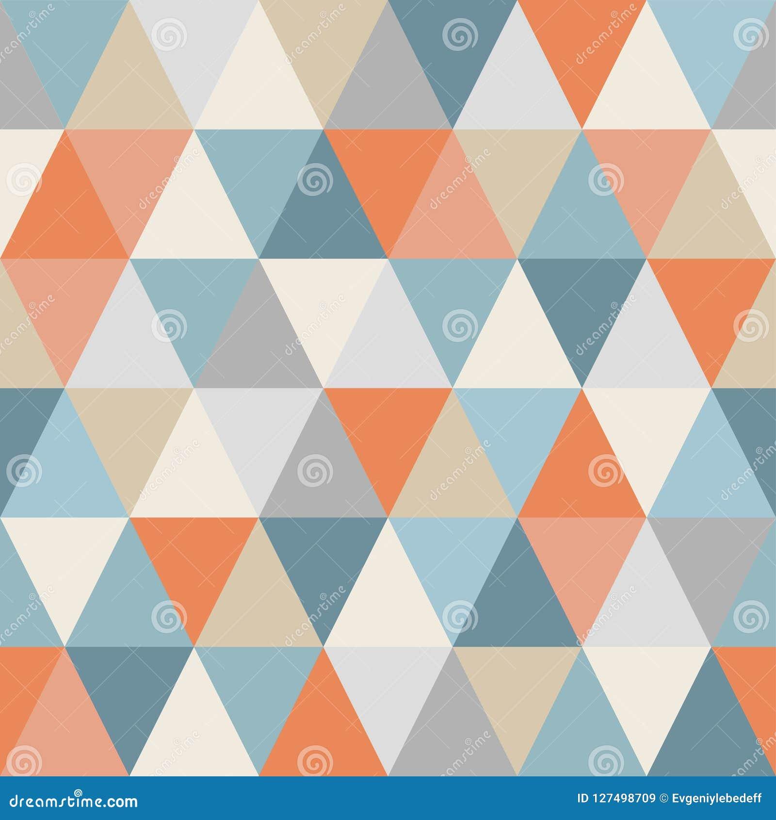 Geometrisches Muster von Dreiecken nahtlos Warme und kalte Farben