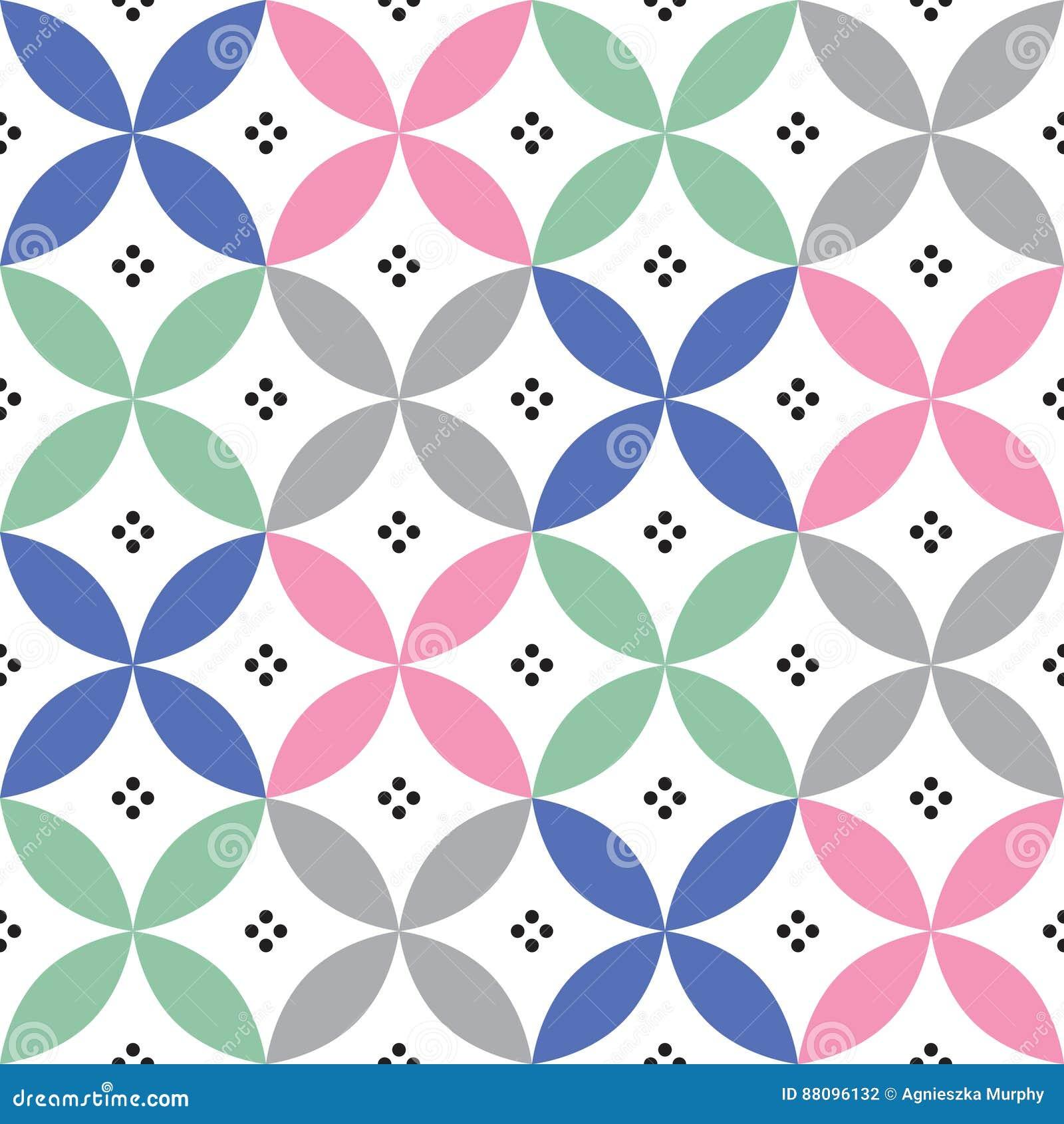 Geometrisches Nahtloses Muster In Den Pastellfarben Die Durch Die - Portugiesische fliesen küche